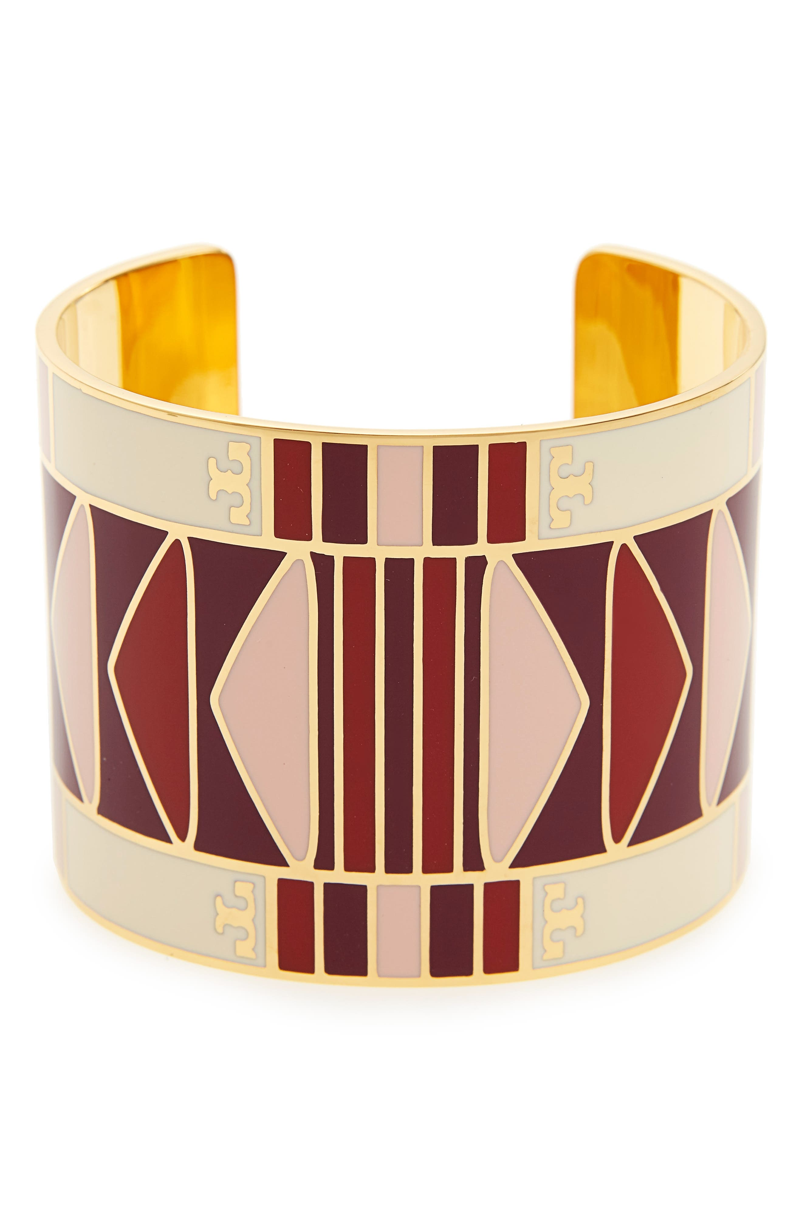 Wide Cuff,                             Main thumbnail 1, color,                             Liberty Red / Tory Gold