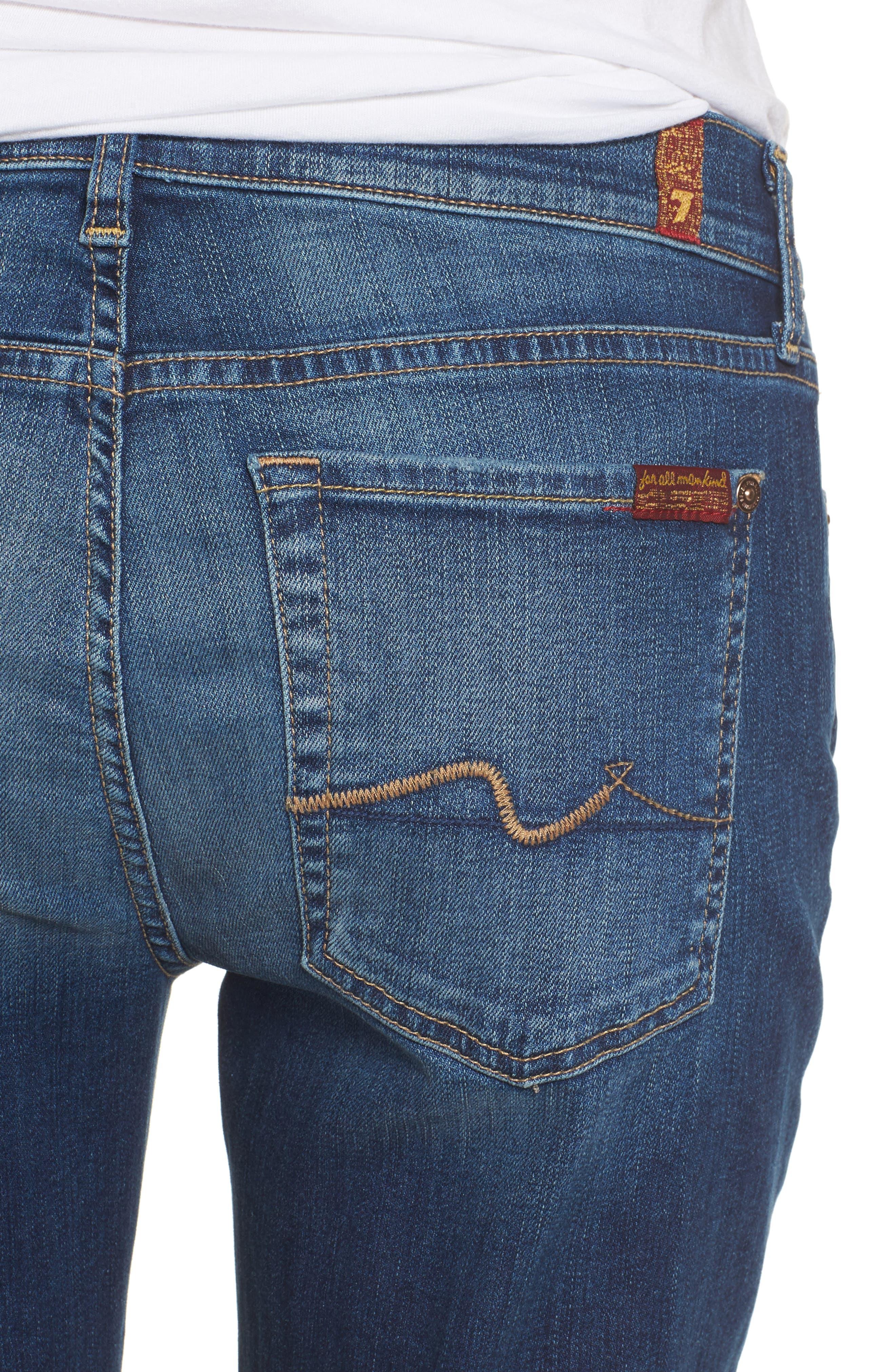 Alternate Image 4  - 7 For All Mankind® Josefina Destroyed Boyfriend Jeans (Liberty)