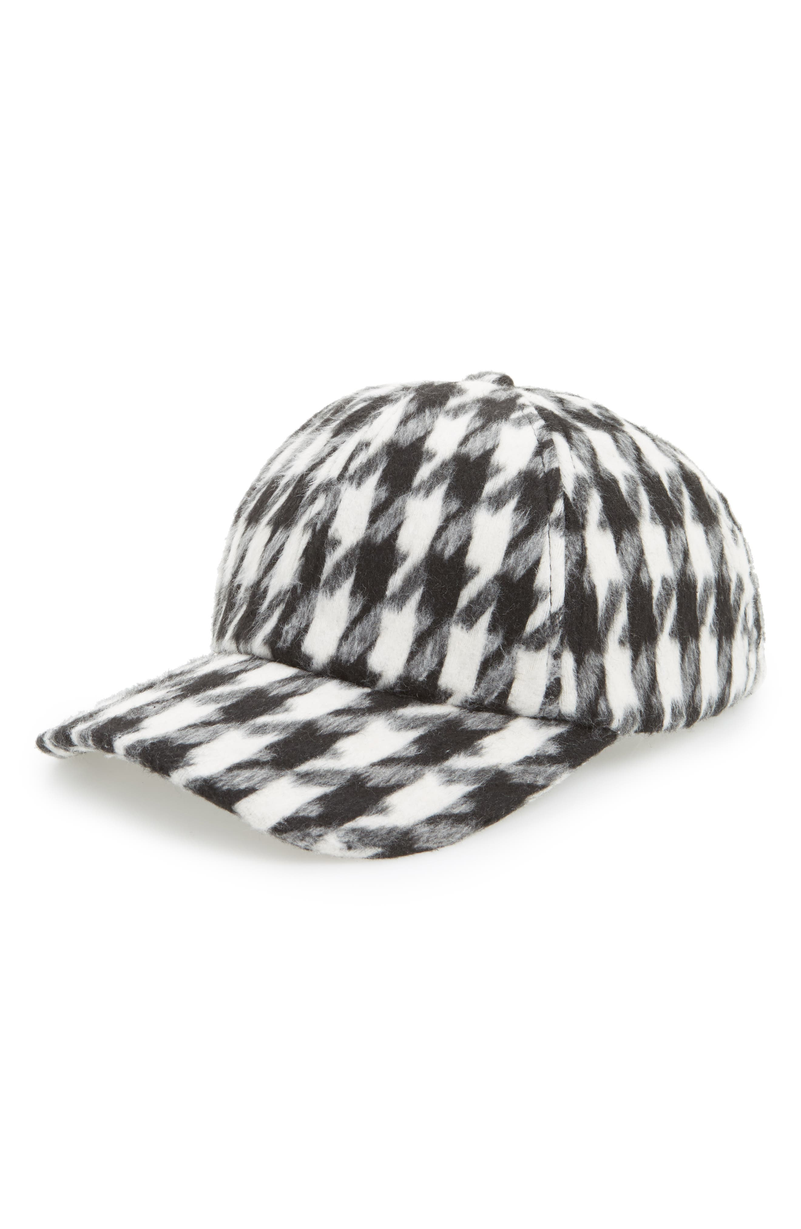 Amici Accessories Houndstooth Ball Cap