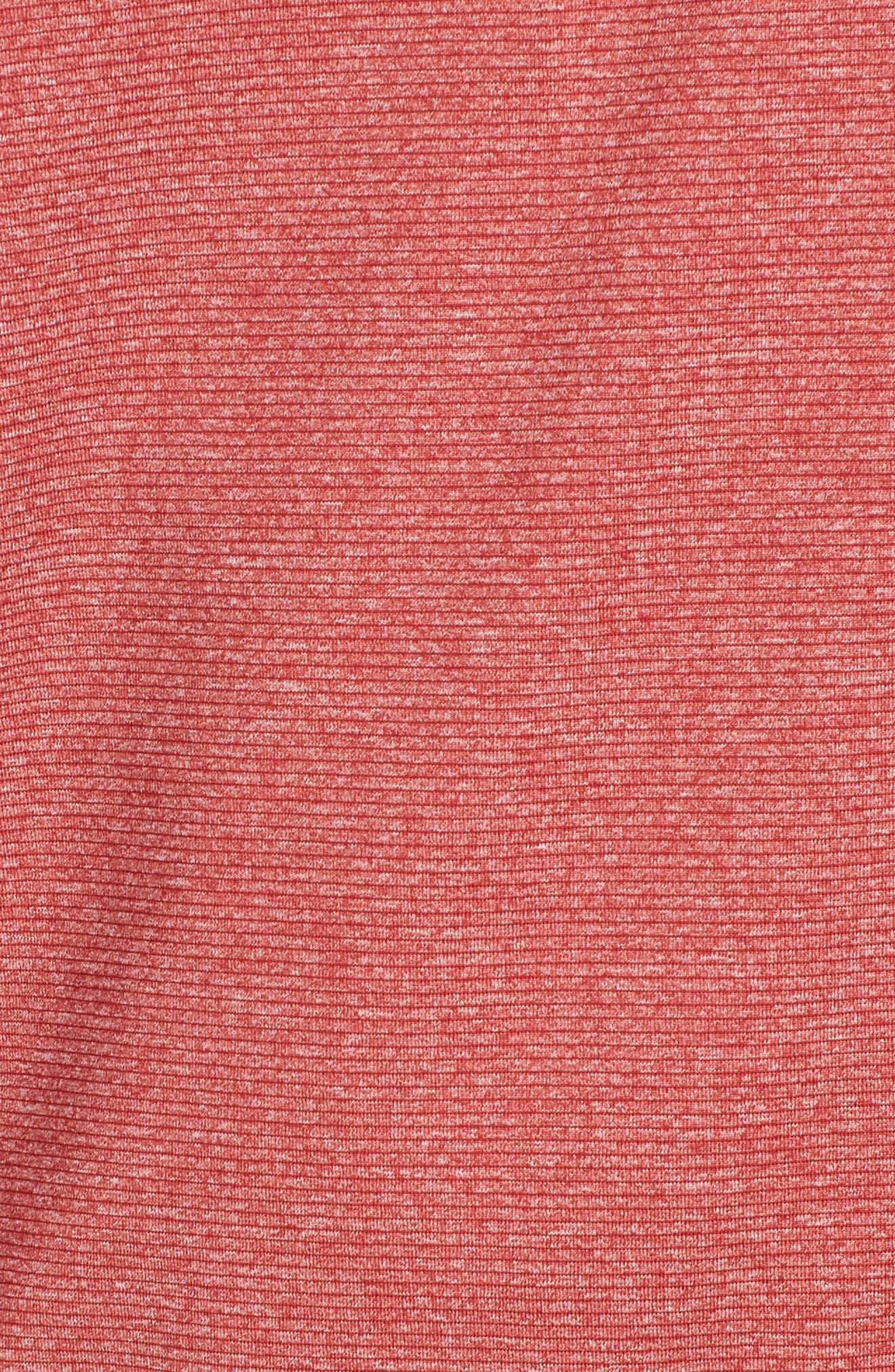Shoreline - Tampa Bay Buccaneers Half Zip Pullover,                             Alternate thumbnail 5, color,                             Cardinal Red Heather