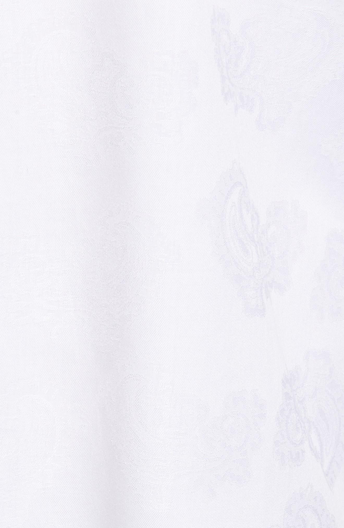 Alternate Image 5  - Bugatchi Trim Fit Floral Jacquard Sport Shirt