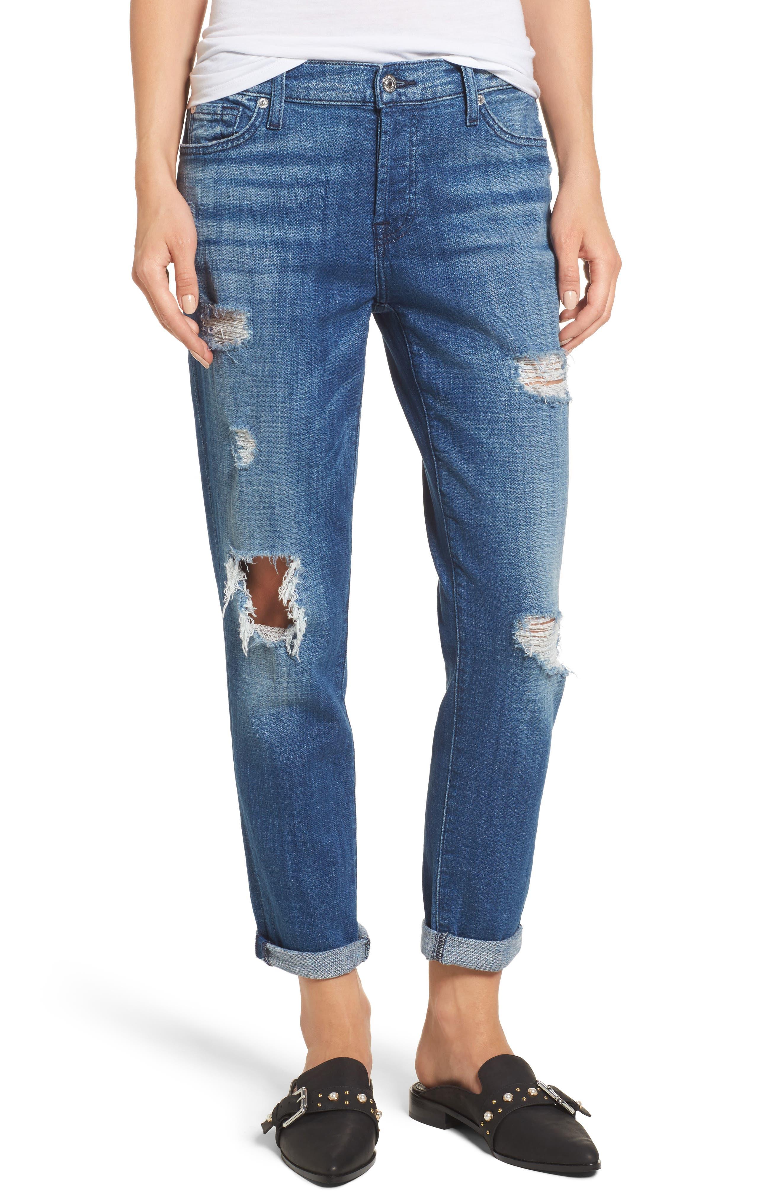 Josefina Boyfriend Jeans,                         Main,                         color, Boyd Blue 2