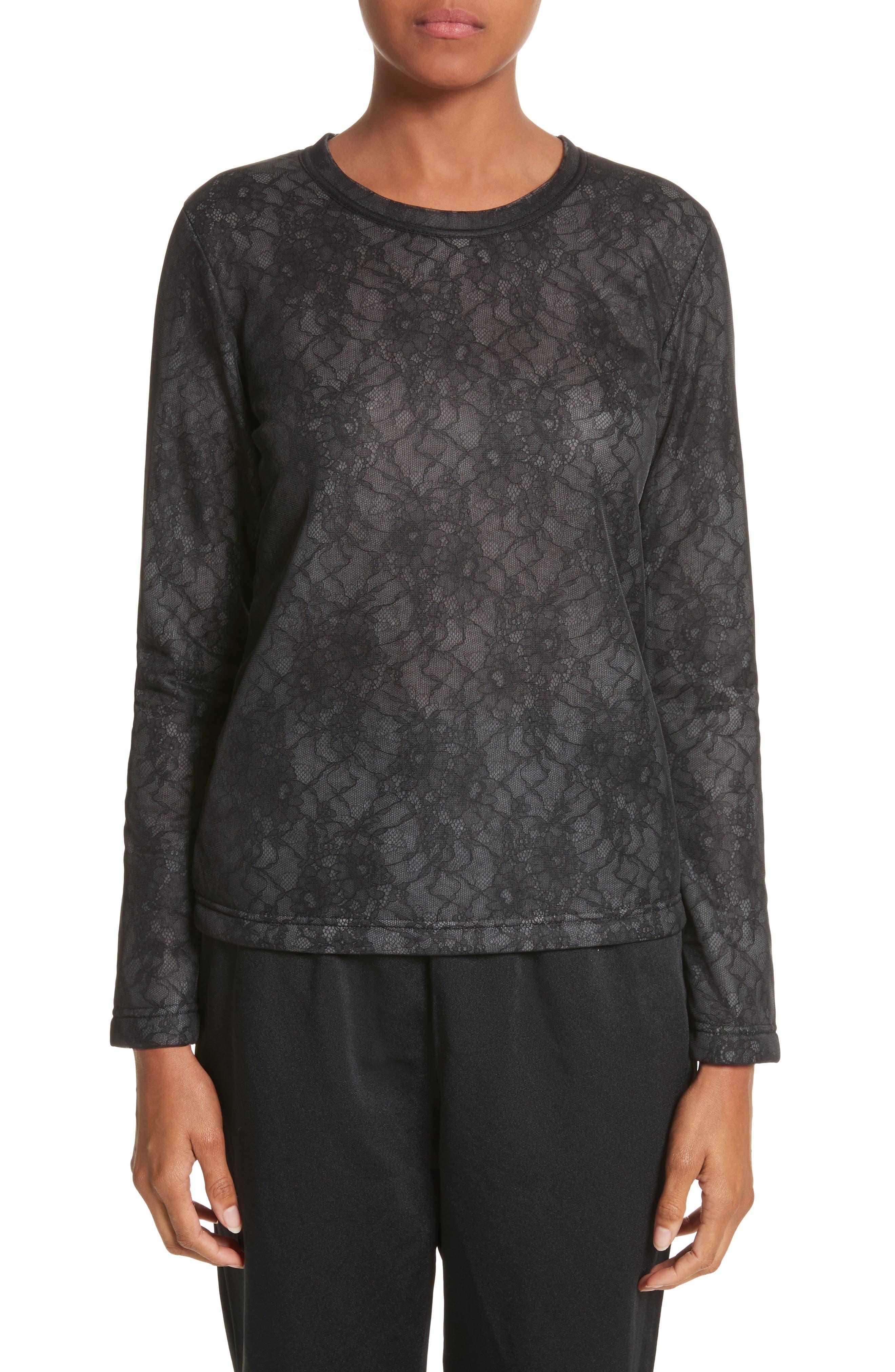 Lace Top,                         Main,                         color, Black