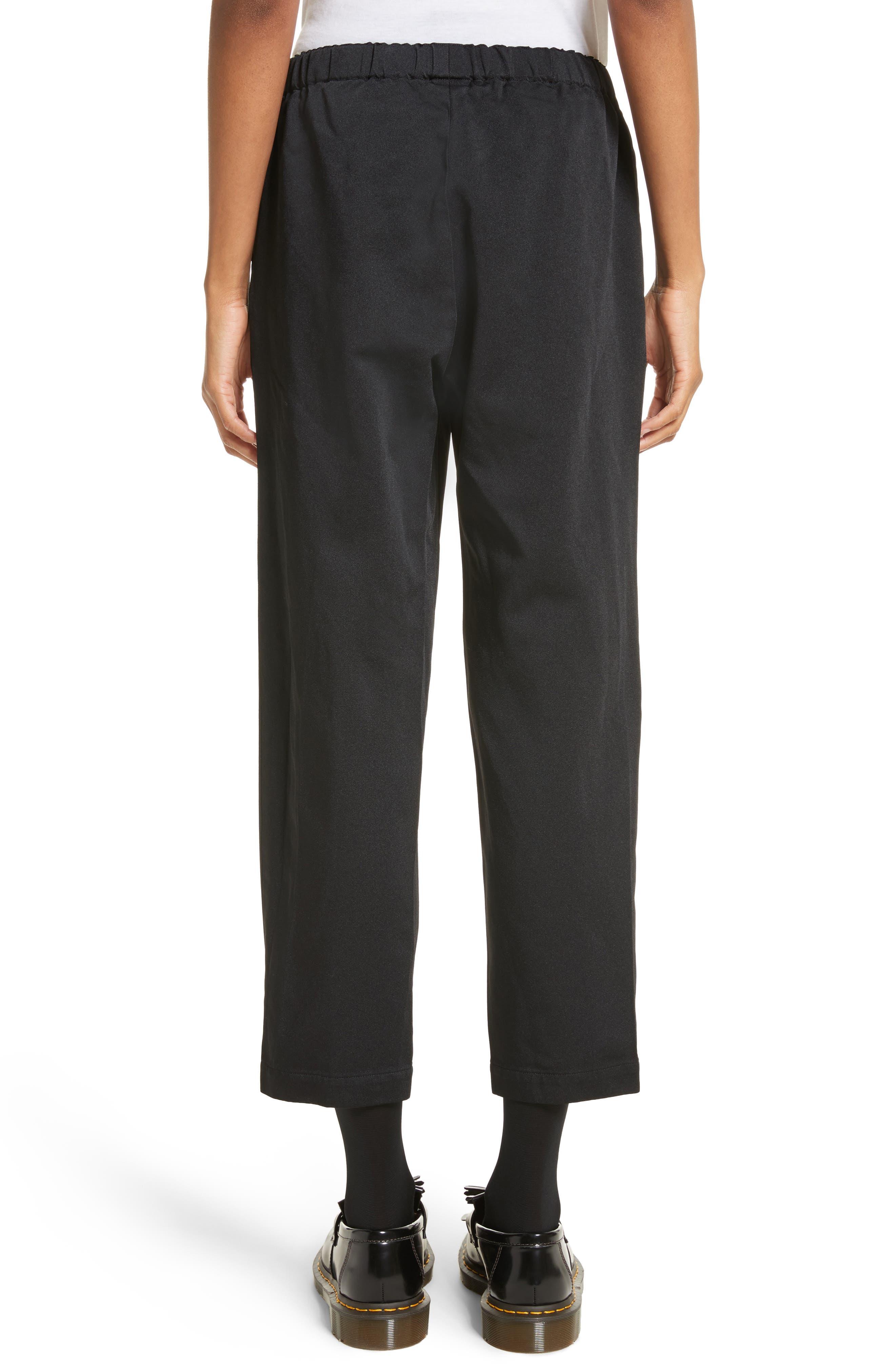 Satin Drawstring Pants,                             Alternate thumbnail 2, color,                             Black