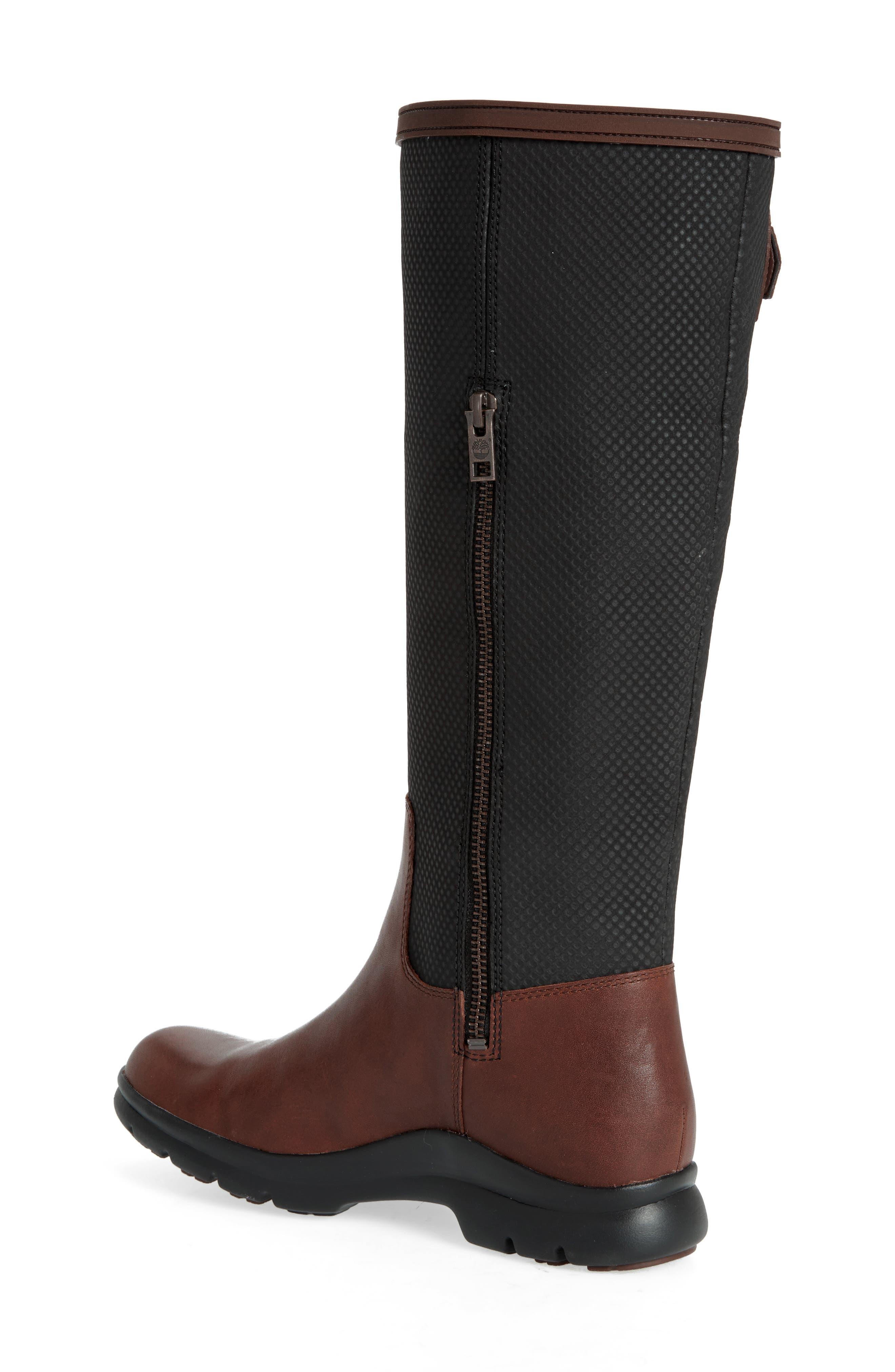 Turain Tall Waterproof Boot,                             Alternate thumbnail 2, color,                             Medium Brown Leather