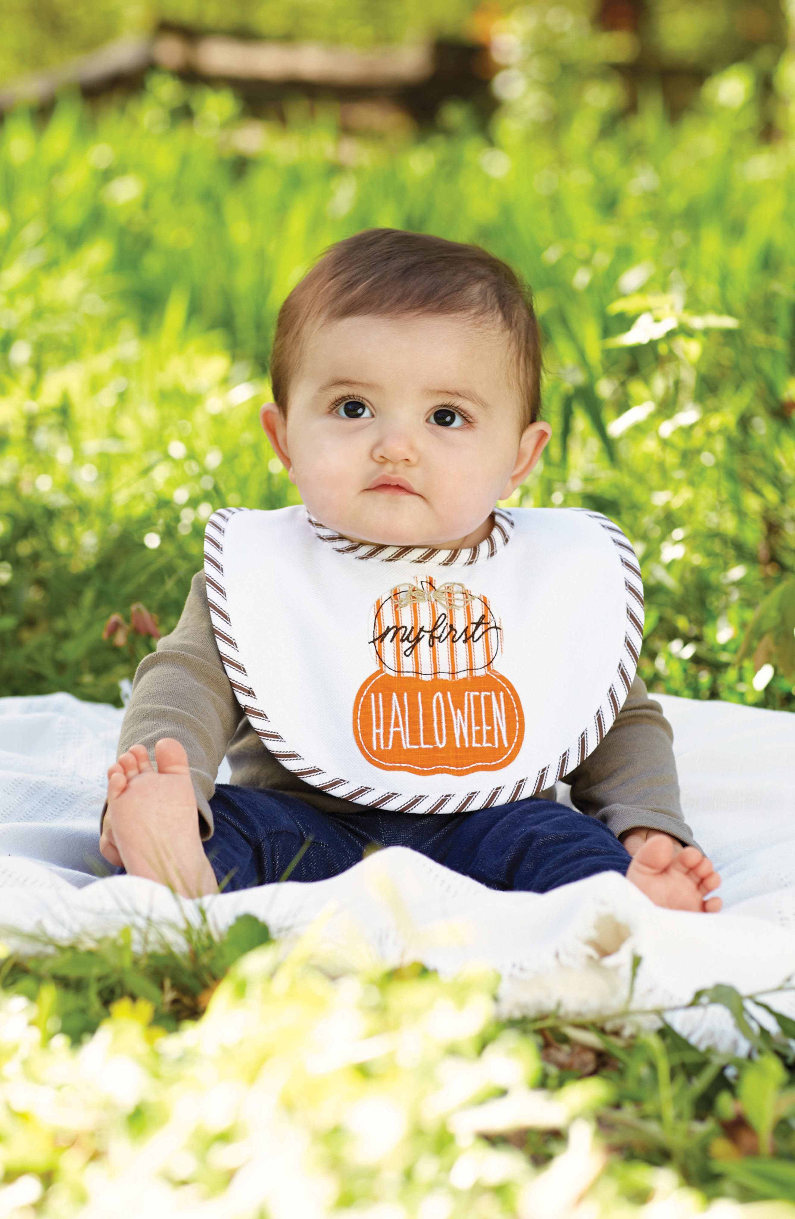 Alternate Image 2  - Mud Pie My First Halloween Bib
