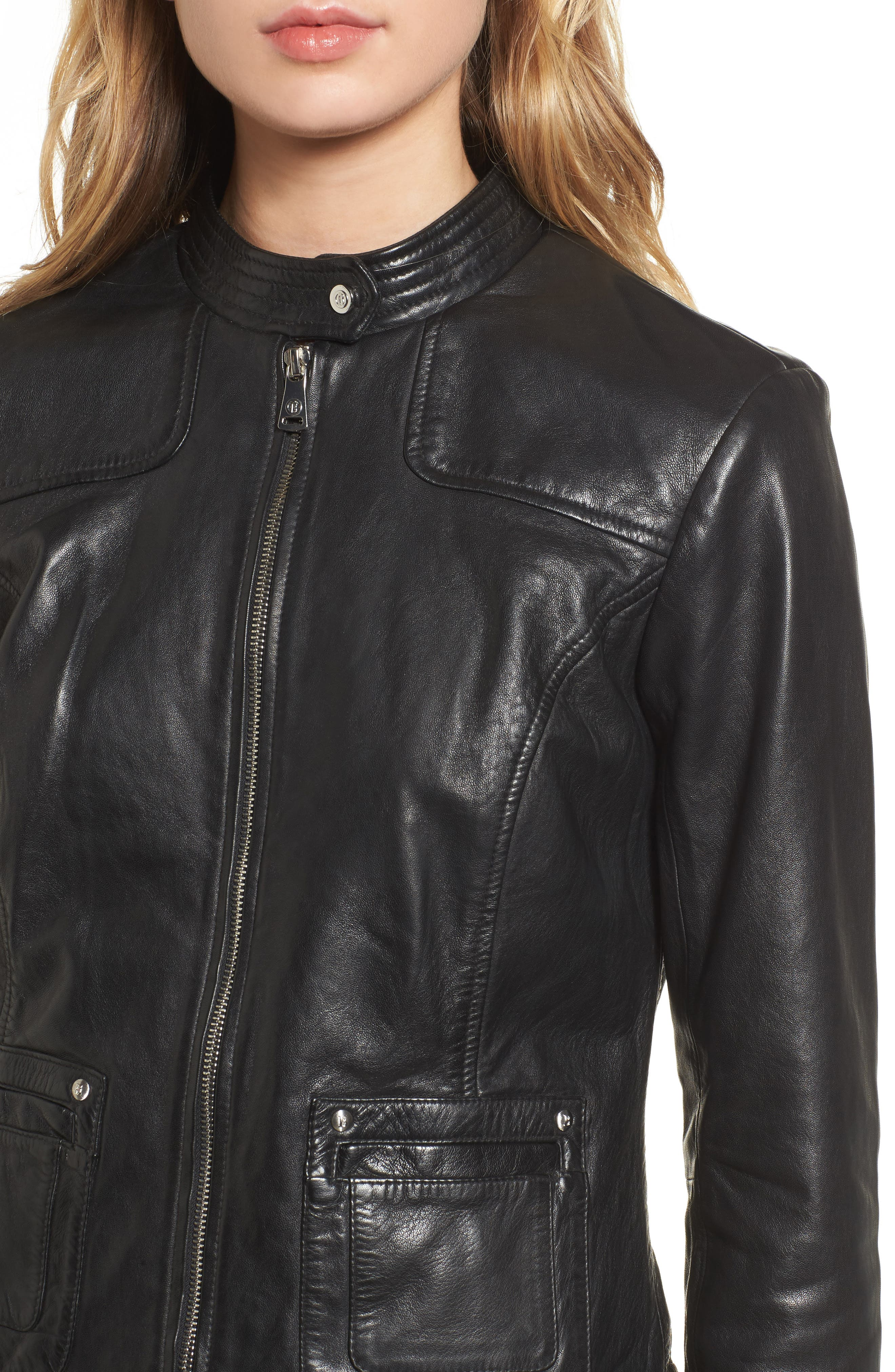 Alternate Image 4  - Bernardo Leather Moto Jacket