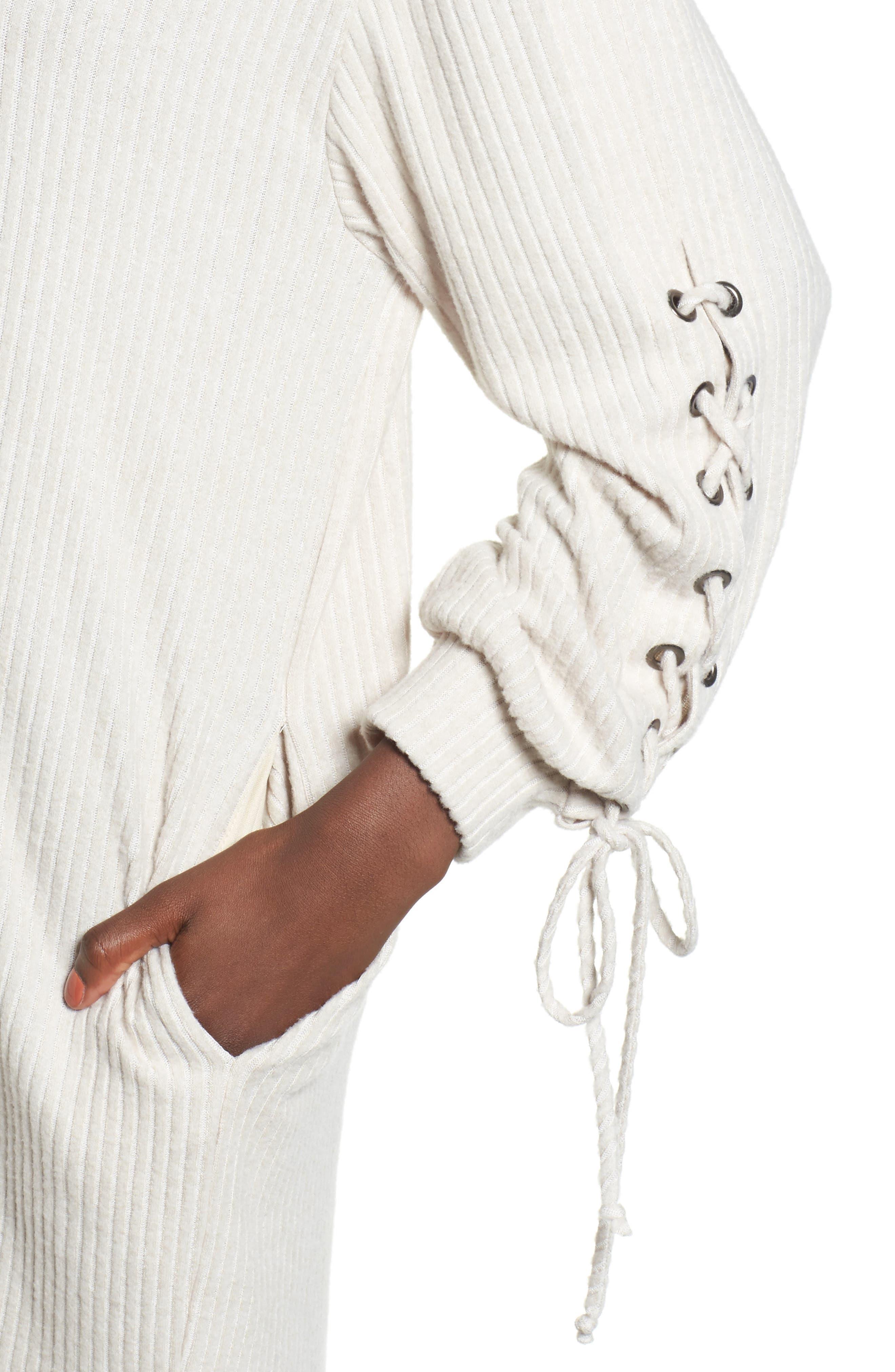 Alternate Image 4  - Lace-Up Sweater Dress