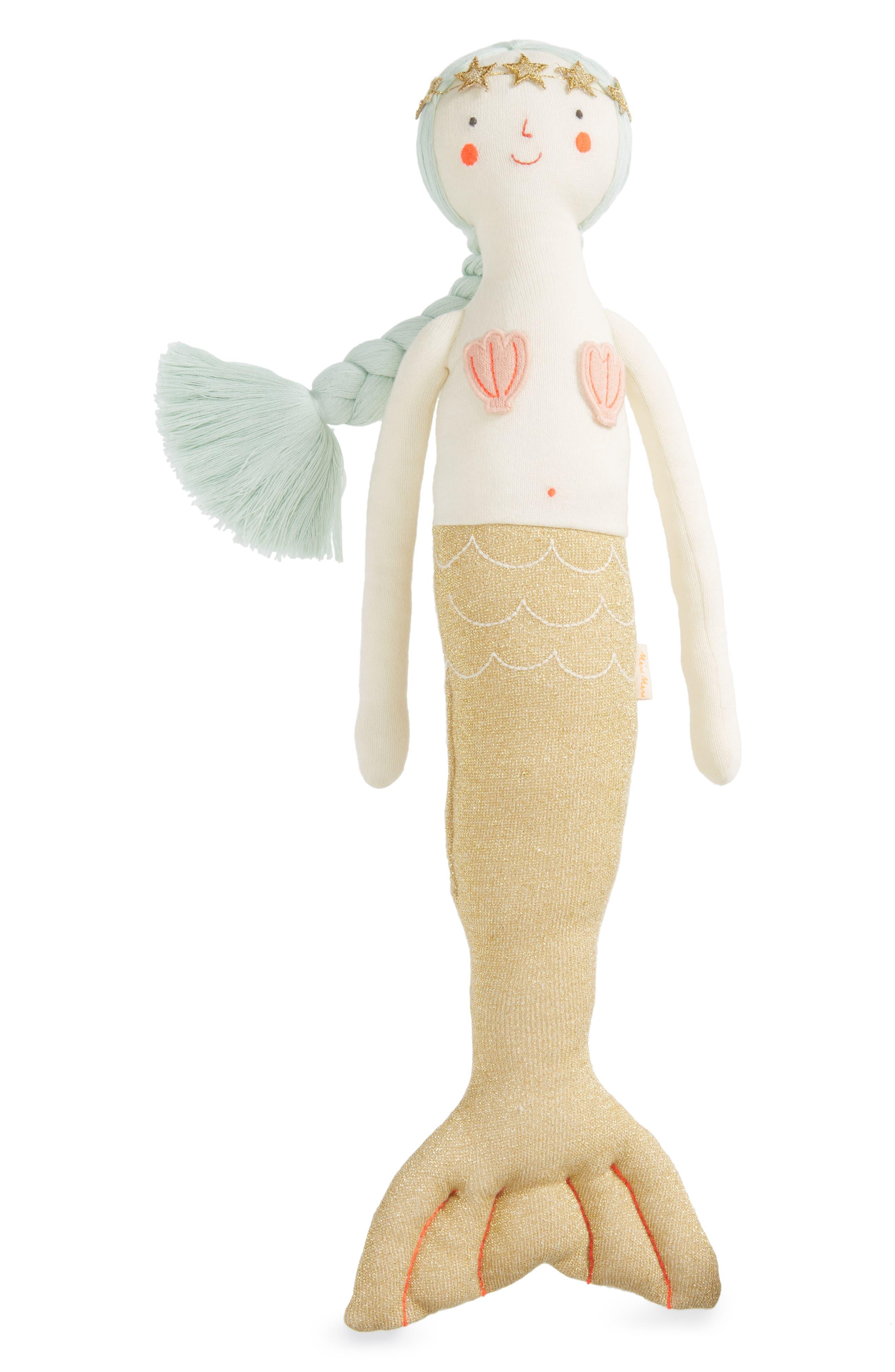 Meri Meri Knit Organic Cotton Mermaid Cushion/Toy