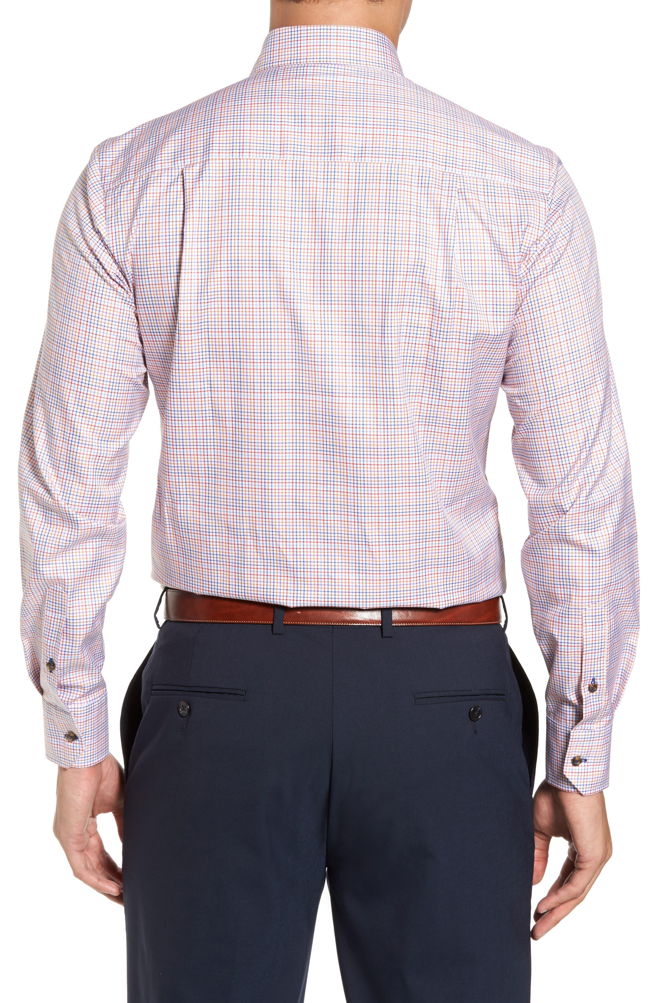 Alternate Image 2  - David Donahue Regular Fit Plaid Sport Shirt