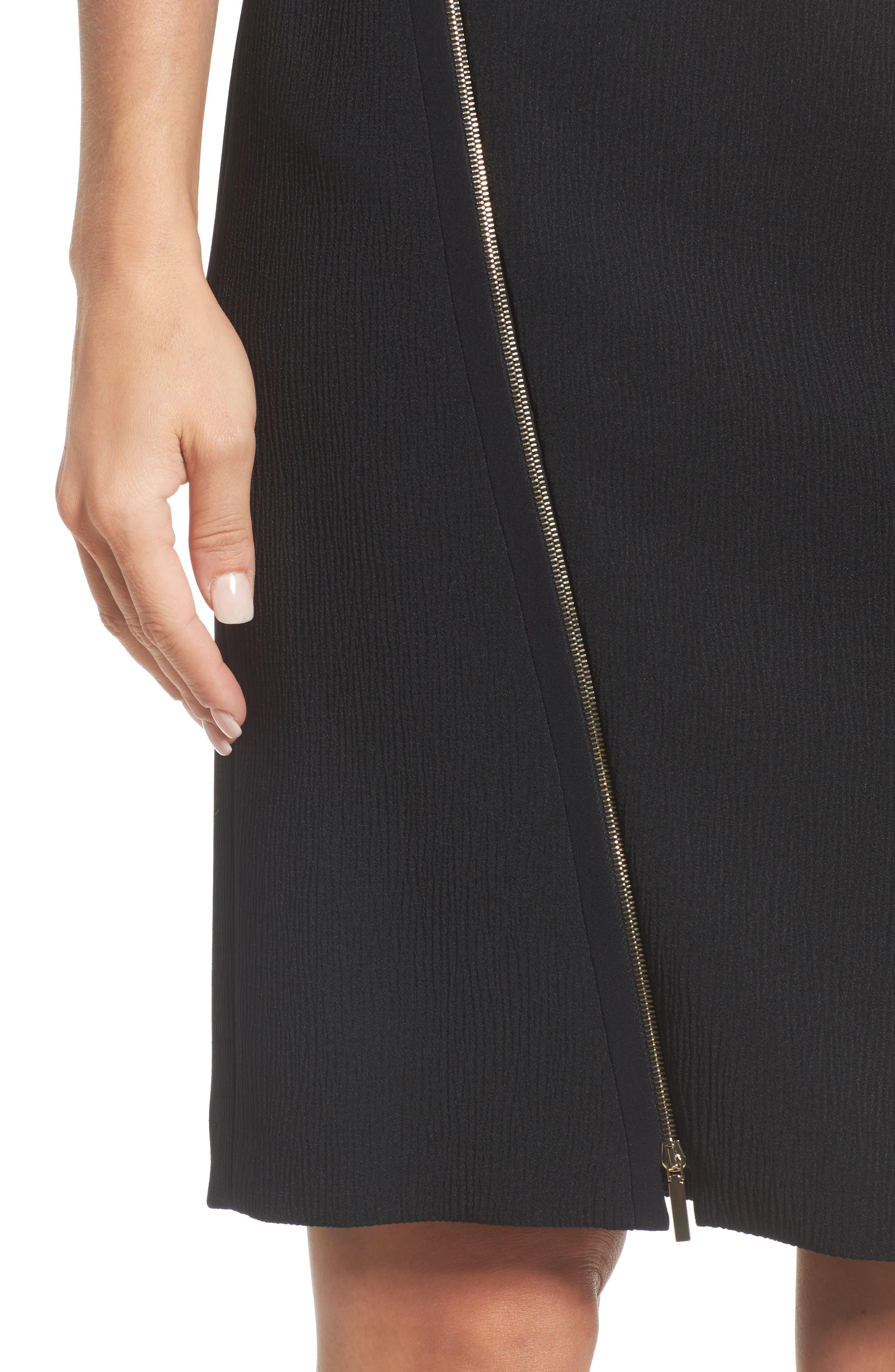 Alternate Image 4  - BOSS Vanafea Zip Front Crepe Pencil Skirt