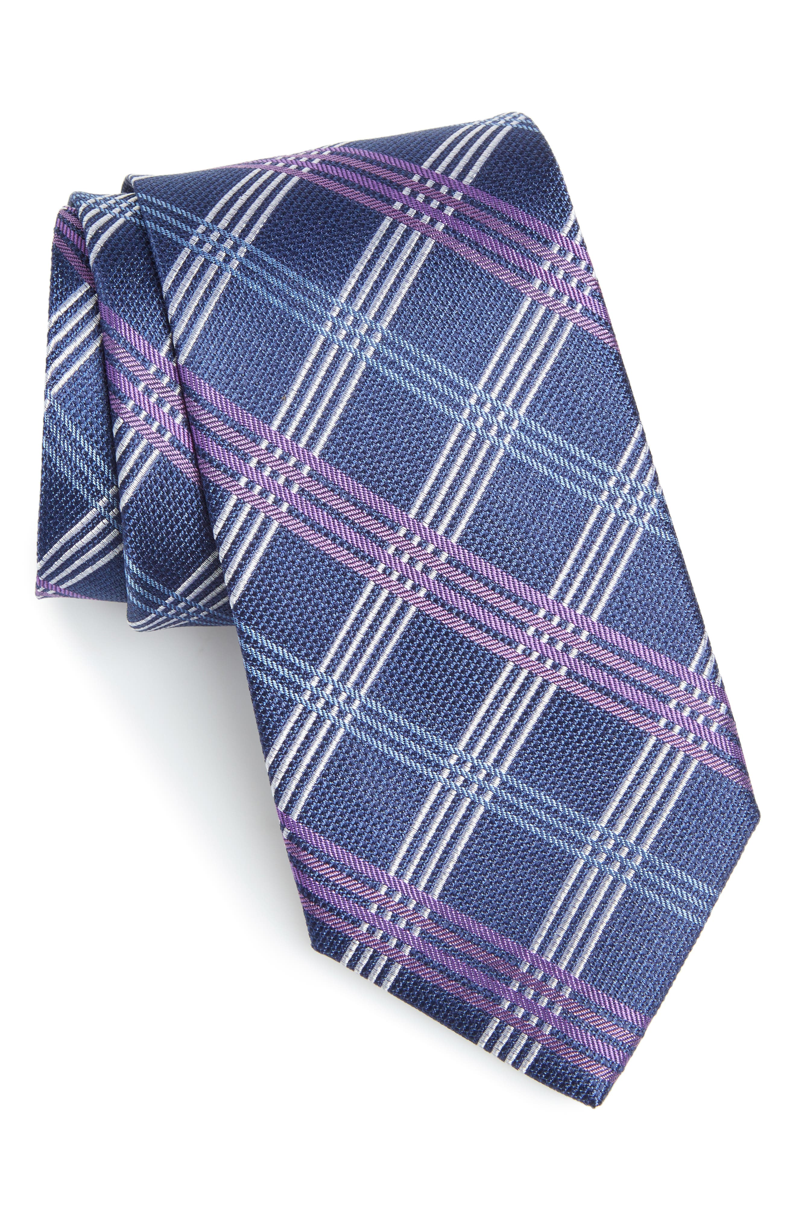 Nordstrom Men's Shop Plaid Silk Tie