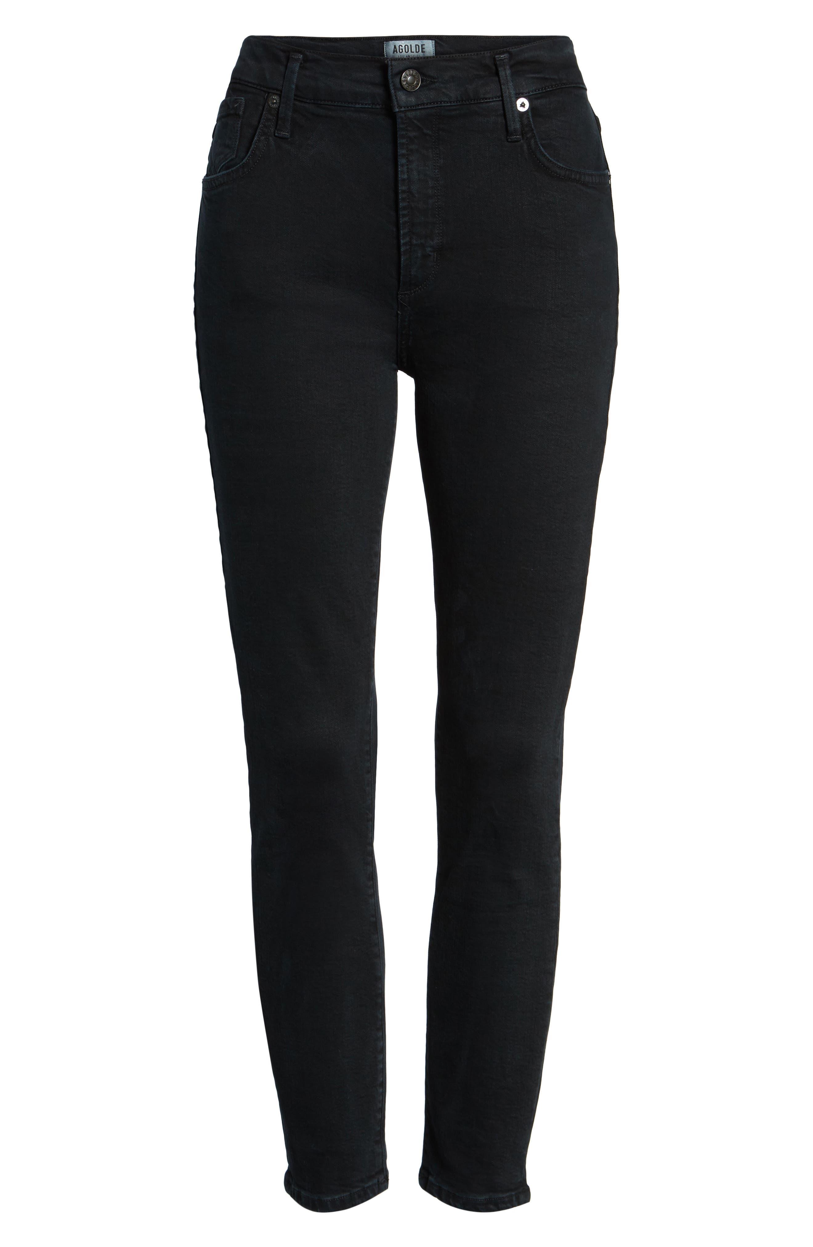 Alternate Image 6  - AGOLDE Sophie Crop High Rise Skinny Jeans (Princeton)
