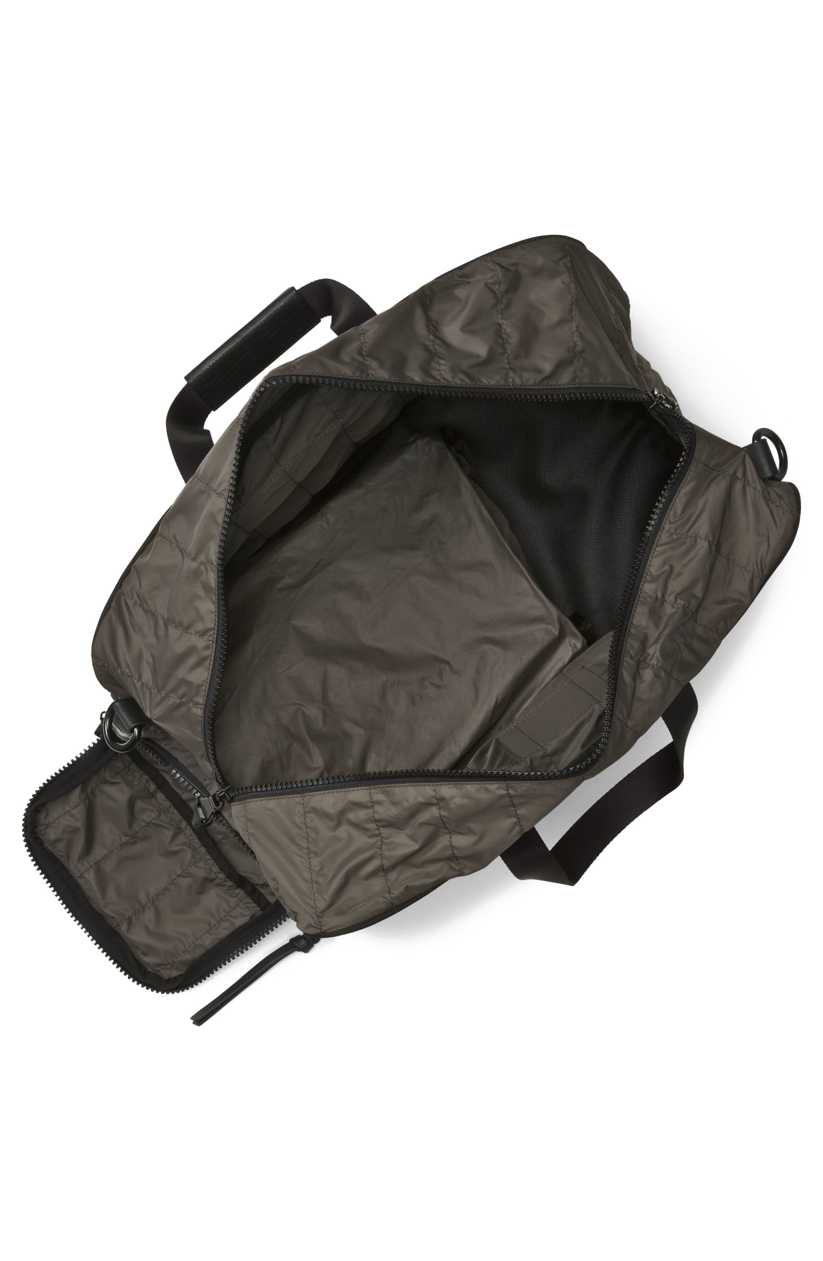 Quilted Nylon Duffel,                             Alternate thumbnail 3, color,                             Army Green