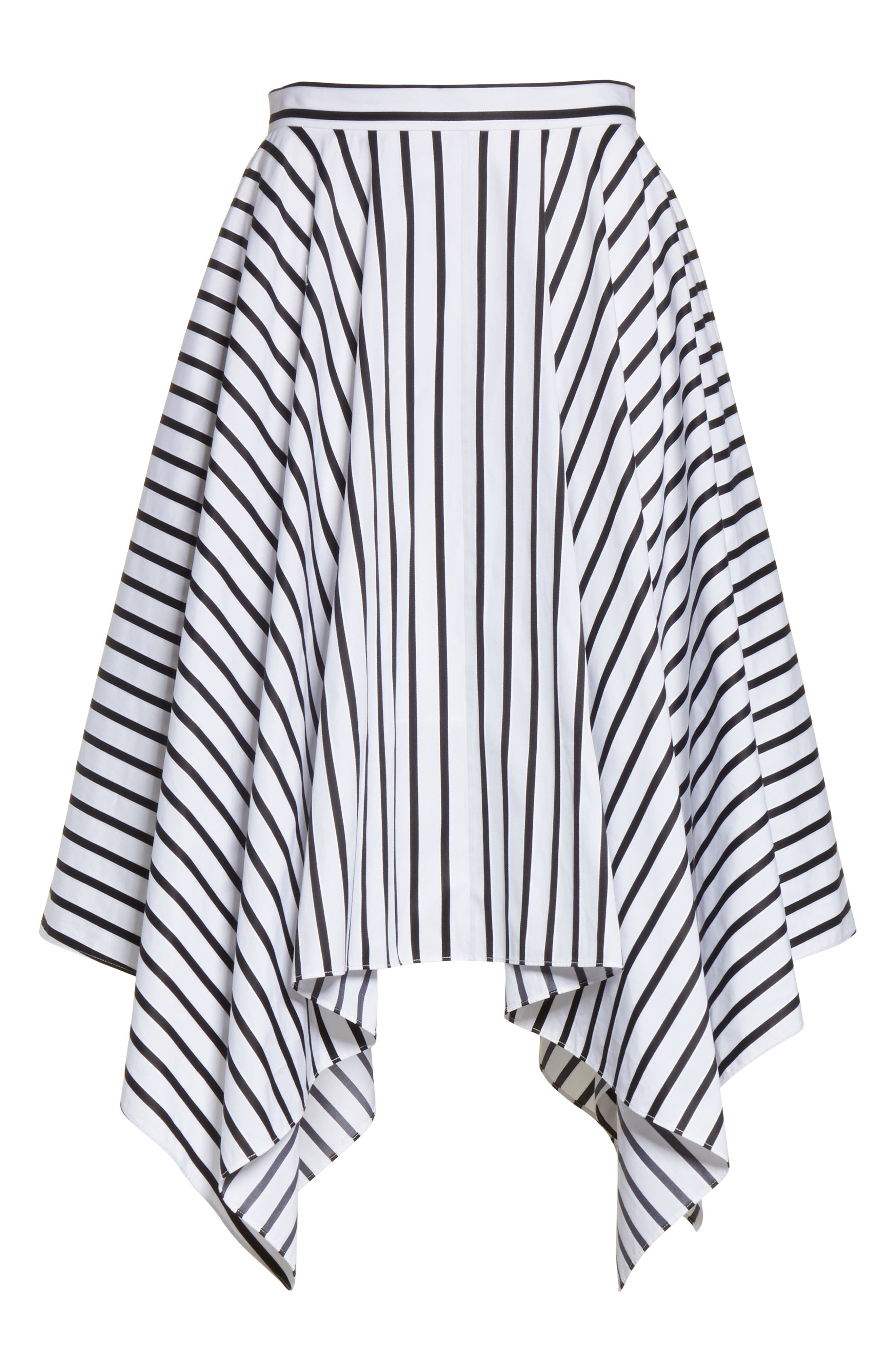 Alternate Image 6  - Adam Lippes Stripe Cotton Asymmetrical Skirt