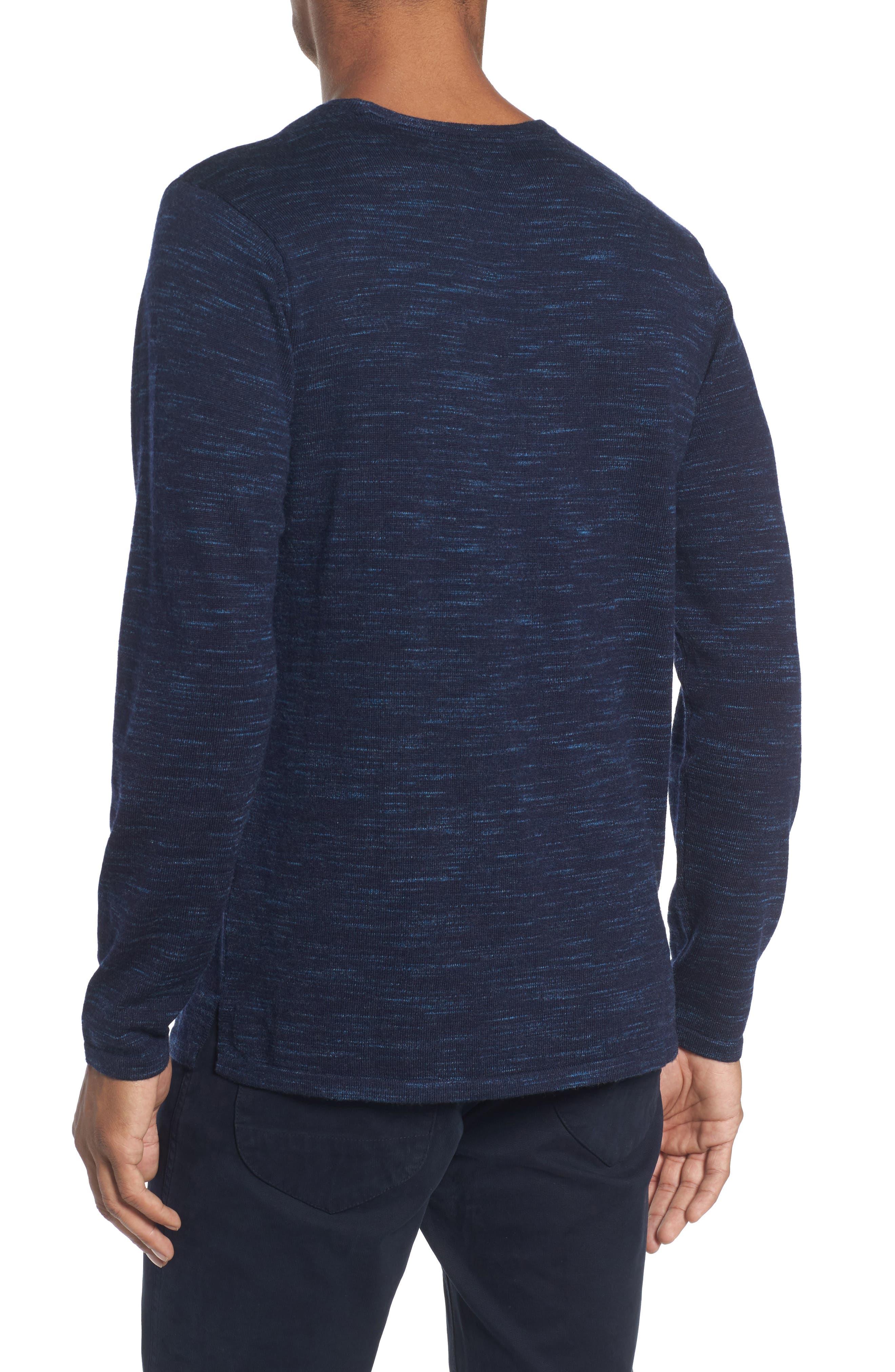 Merino Wool T-Shirt,                             Alternate thumbnail 2, color,                             Stridden Blazer