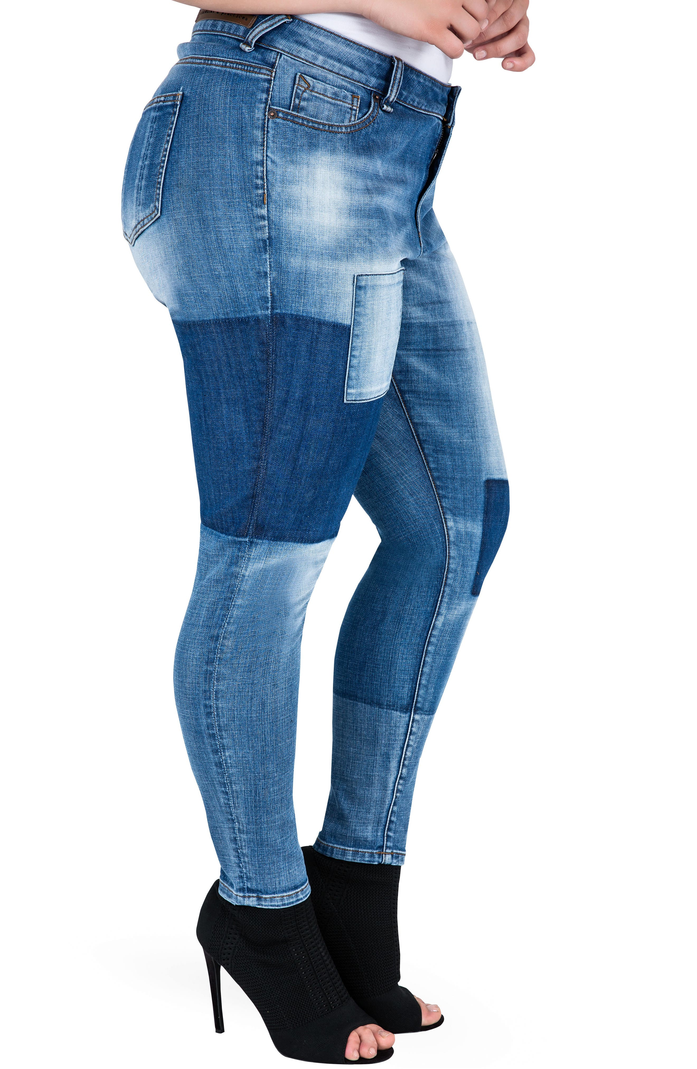 Alternate Image 4  - Standards & Practices Isabel Colorblock Skinny Jeans (Plus Size)