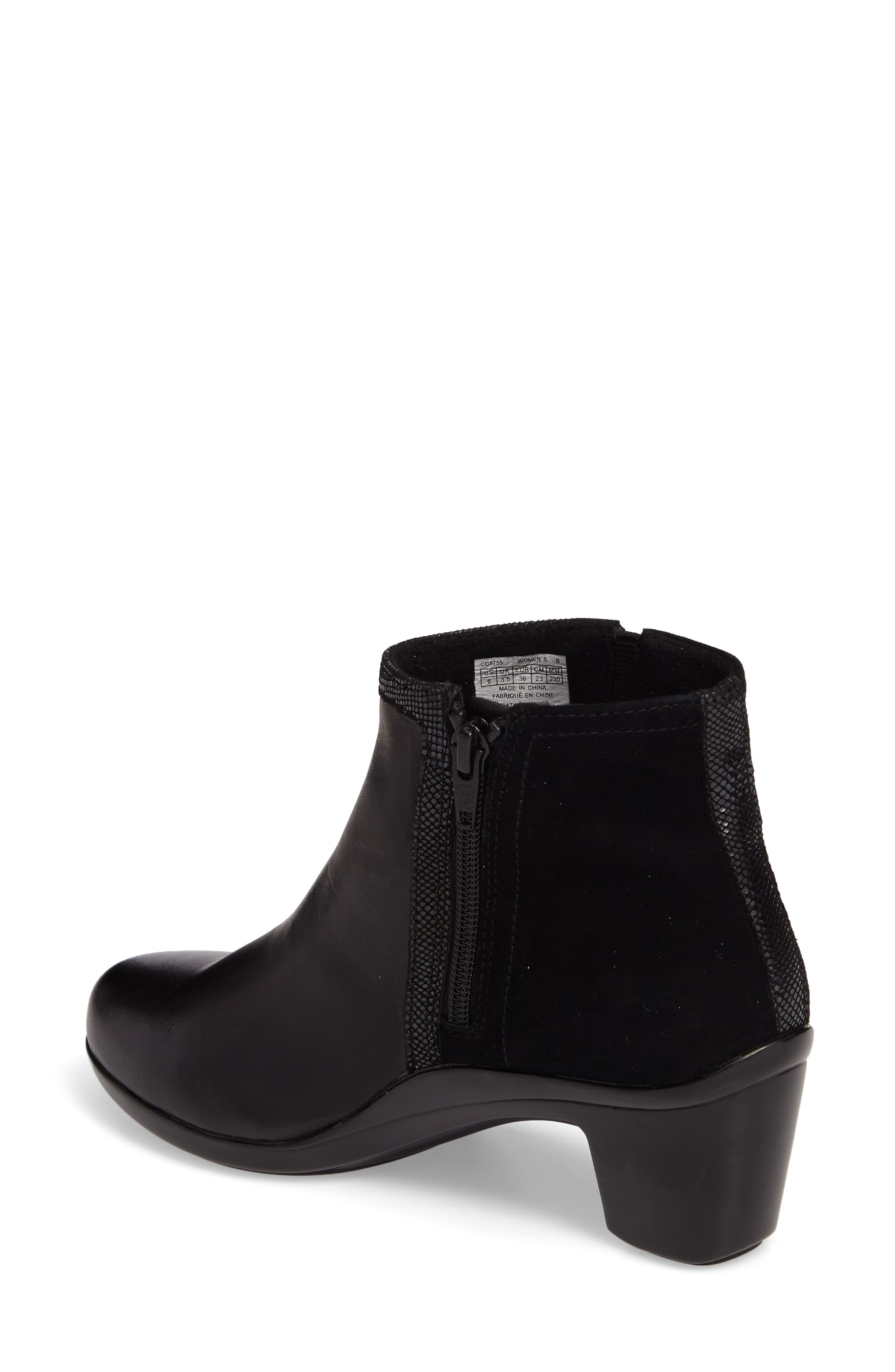 Lexee Wateproof Bootie,                             Alternate thumbnail 2, color,                             Black Leather