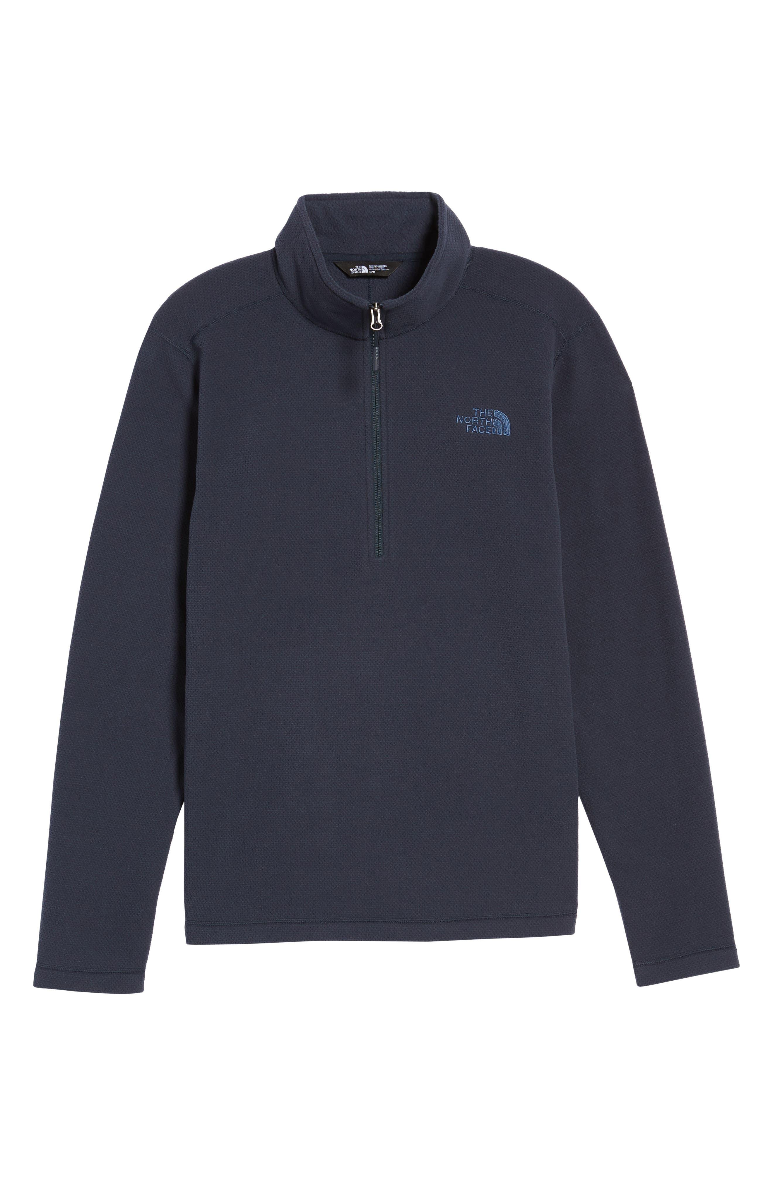 Texture Cap Rock Quarter Zip Fleece Jacket,                             Alternate thumbnail 6, color,                             Urban Navy Texture