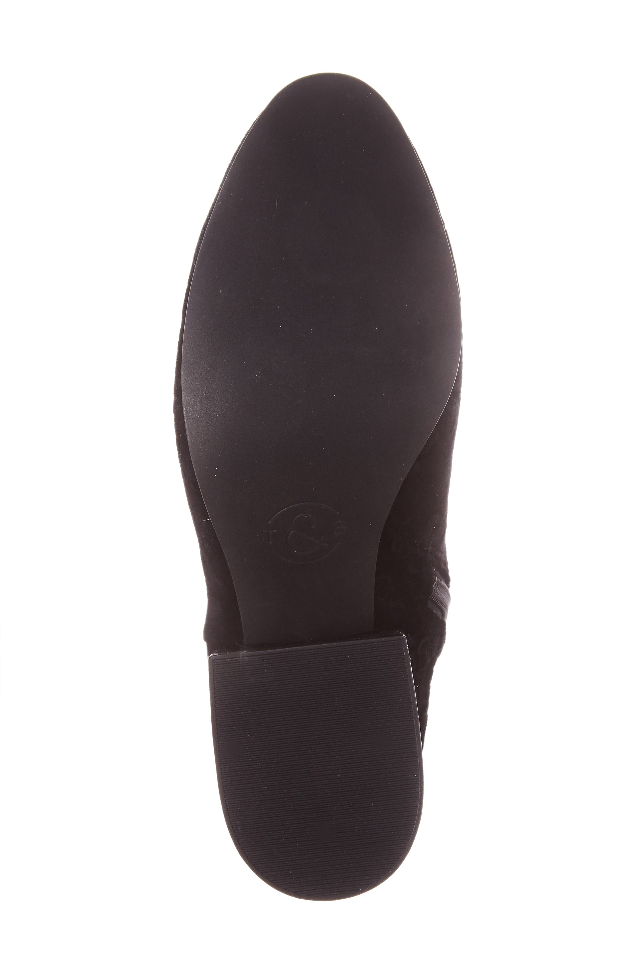 Marian Block Heel Bootie,                             Alternate thumbnail 6, color,                             Black Embossed Velvet