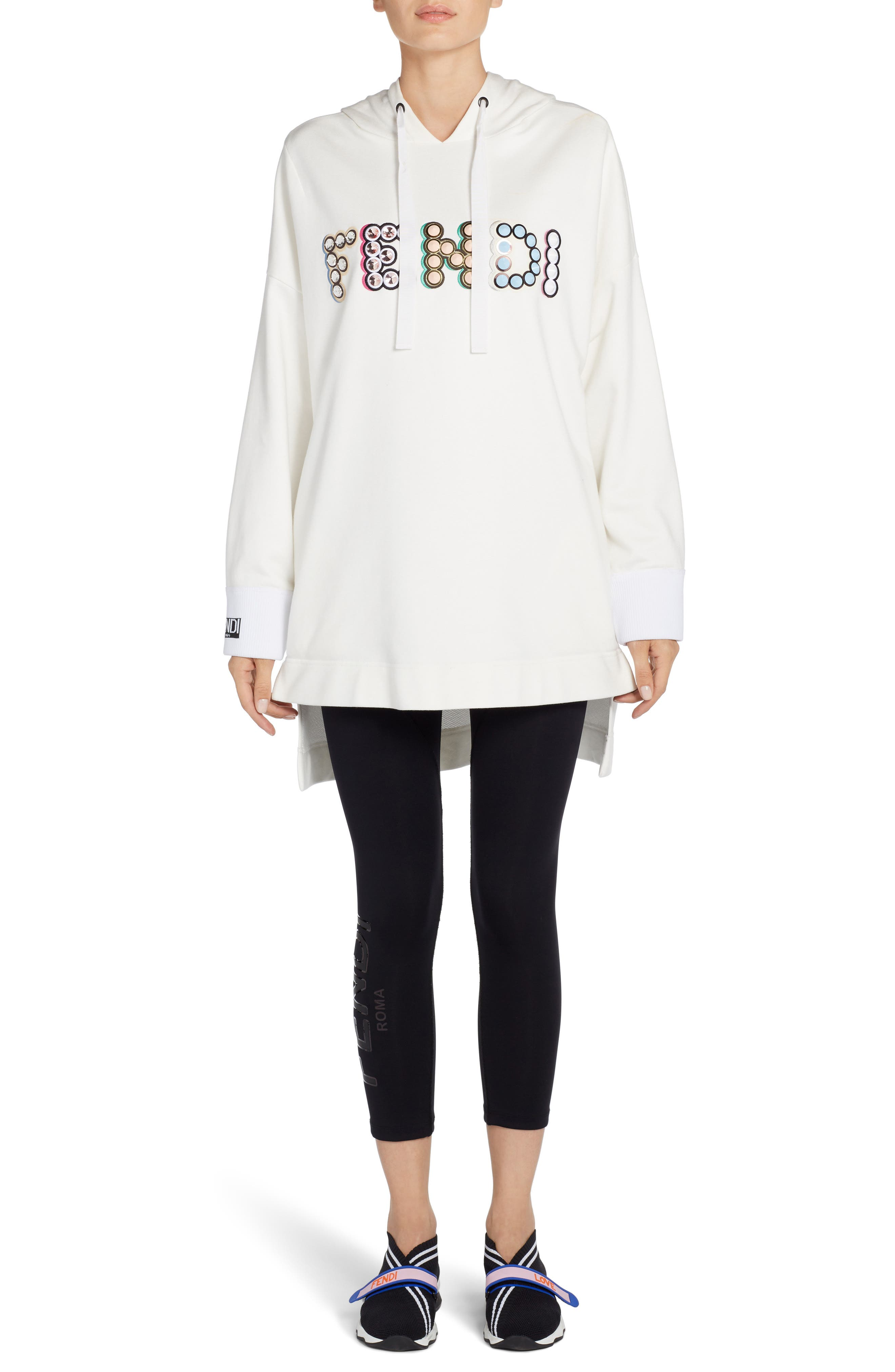 Alternate Image 6  - Fendi Studded Logo Sweatshirt