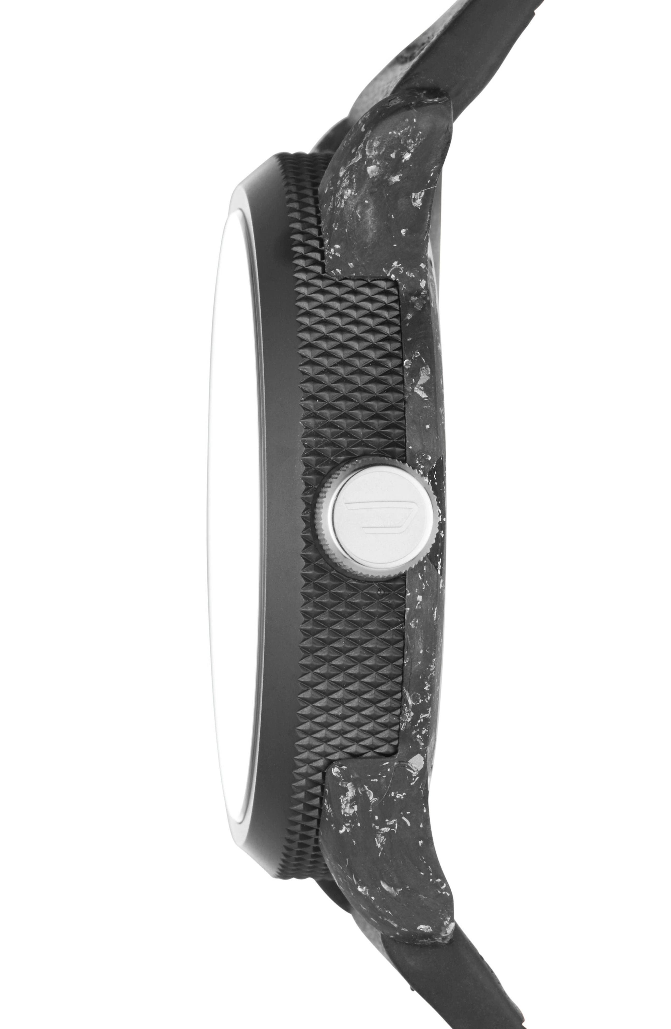 Rasp Leather Strap Watch, 46mm x 53mm,                             Alternate thumbnail 2, color,                             Ip Black/ Carbon