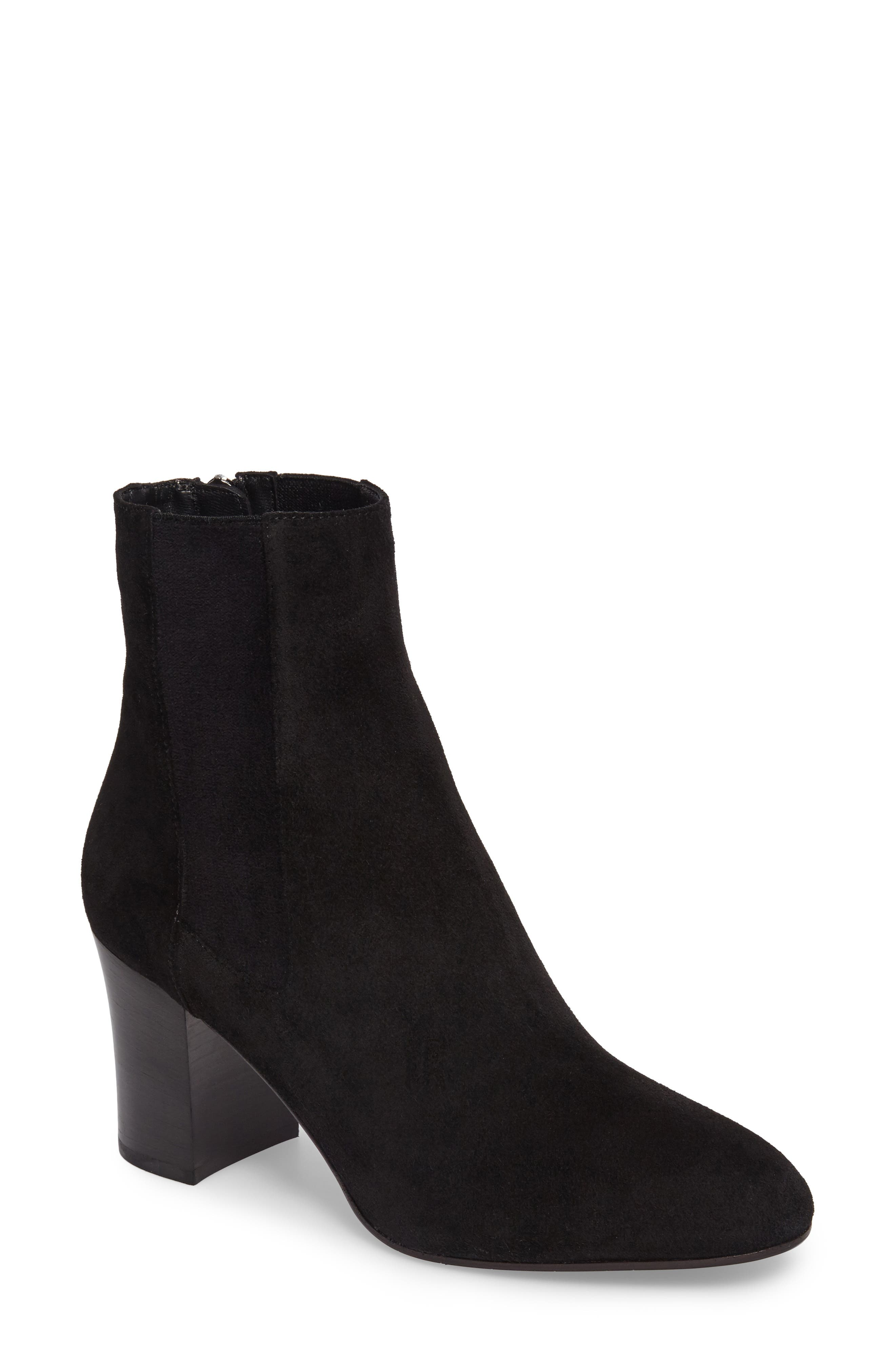 Frida Weatherproof Bootie,                             Main thumbnail 1, color,                             Black Suede