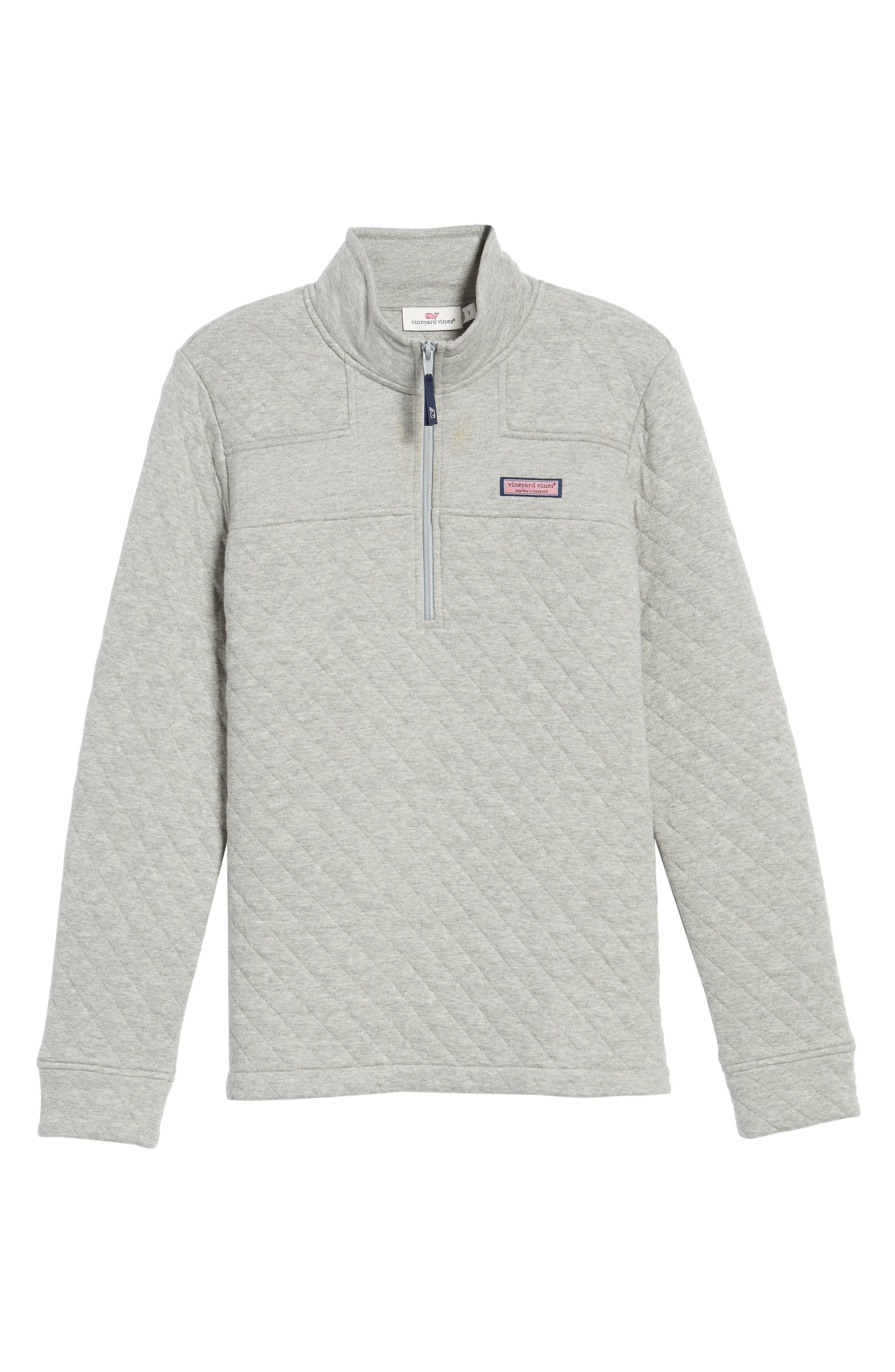 Shep Quilted Quarter Zip Pullover,                             Alternate thumbnail 5, color,                             Silver Fox
