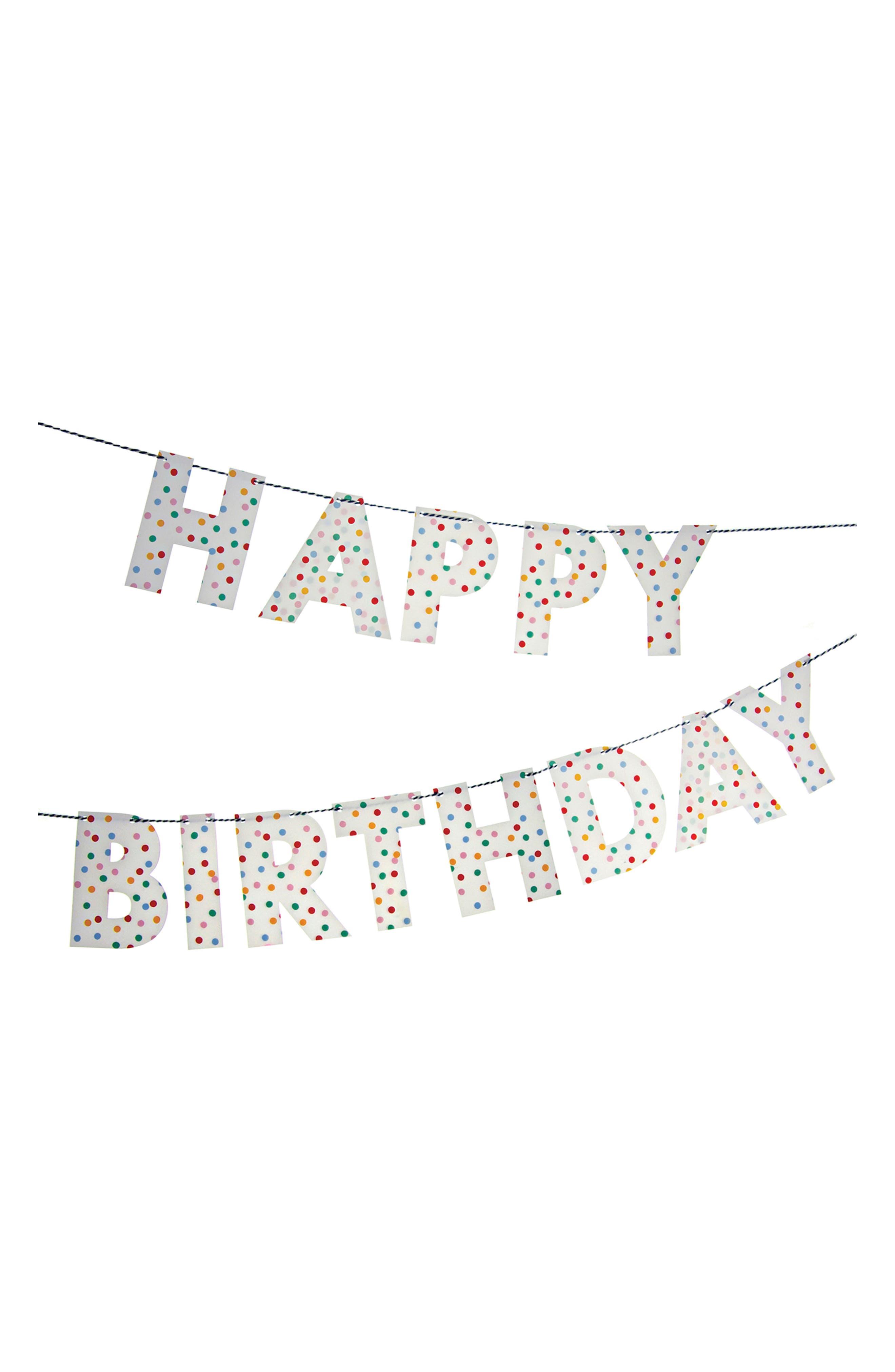 Main Image - Meri Meri Toot Sweet - Spotty Happy Birthday Garland