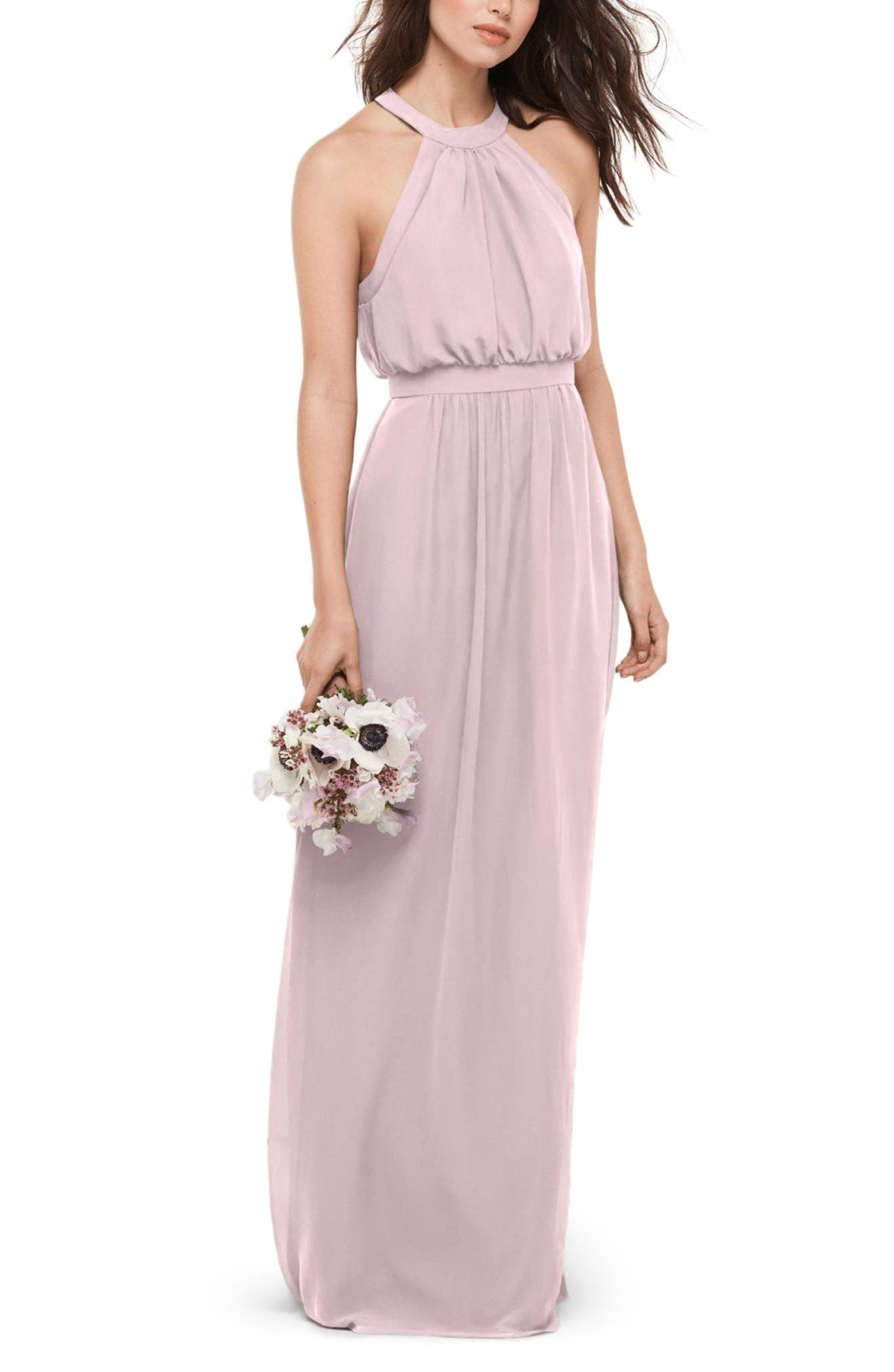 Alternate Image 1 Selected - WTOO Blouson Chiffon Gown