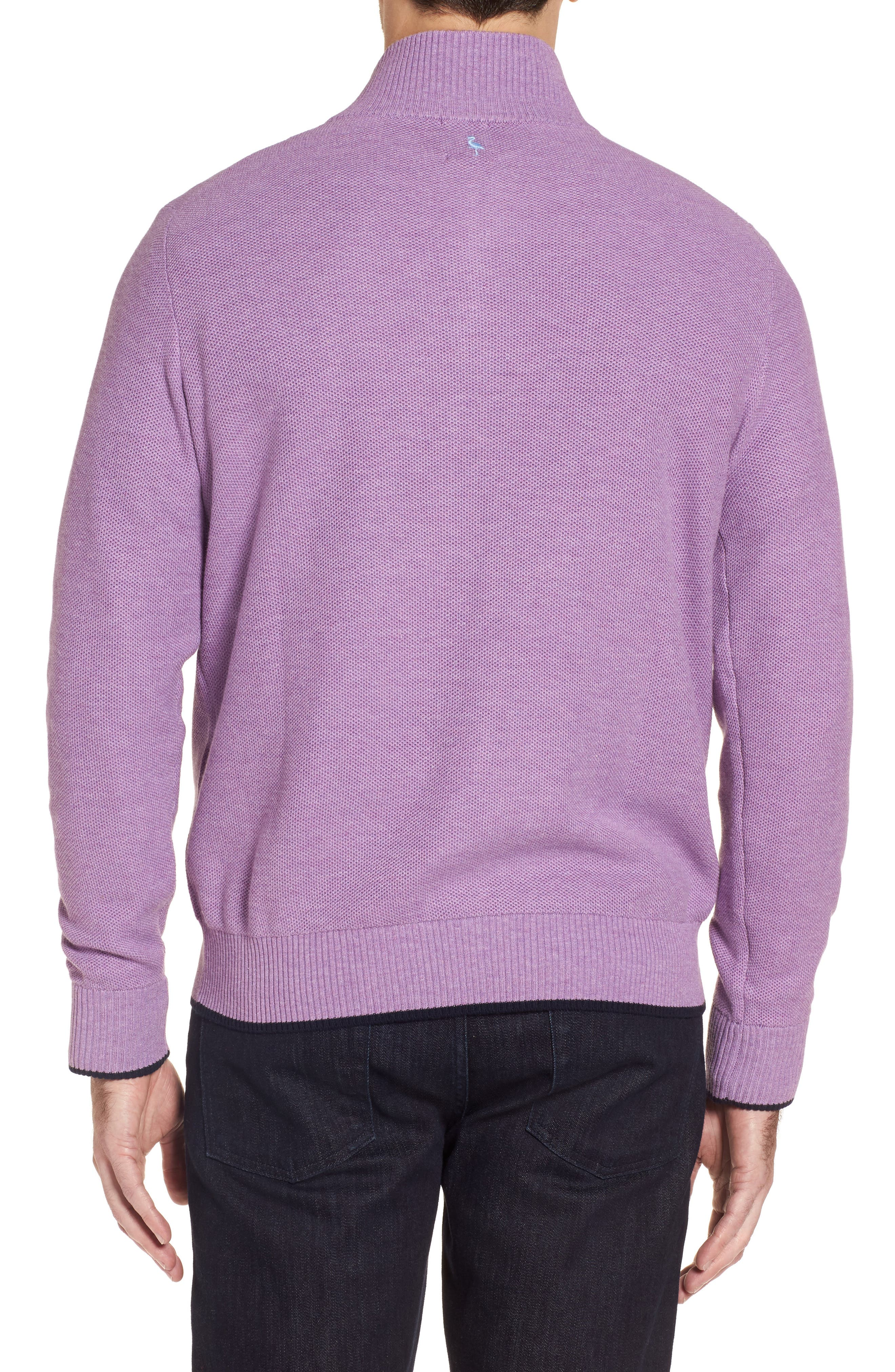 Alternate Image 2  - TailorByrd Ossun Tipped Quarter Zip Sweater