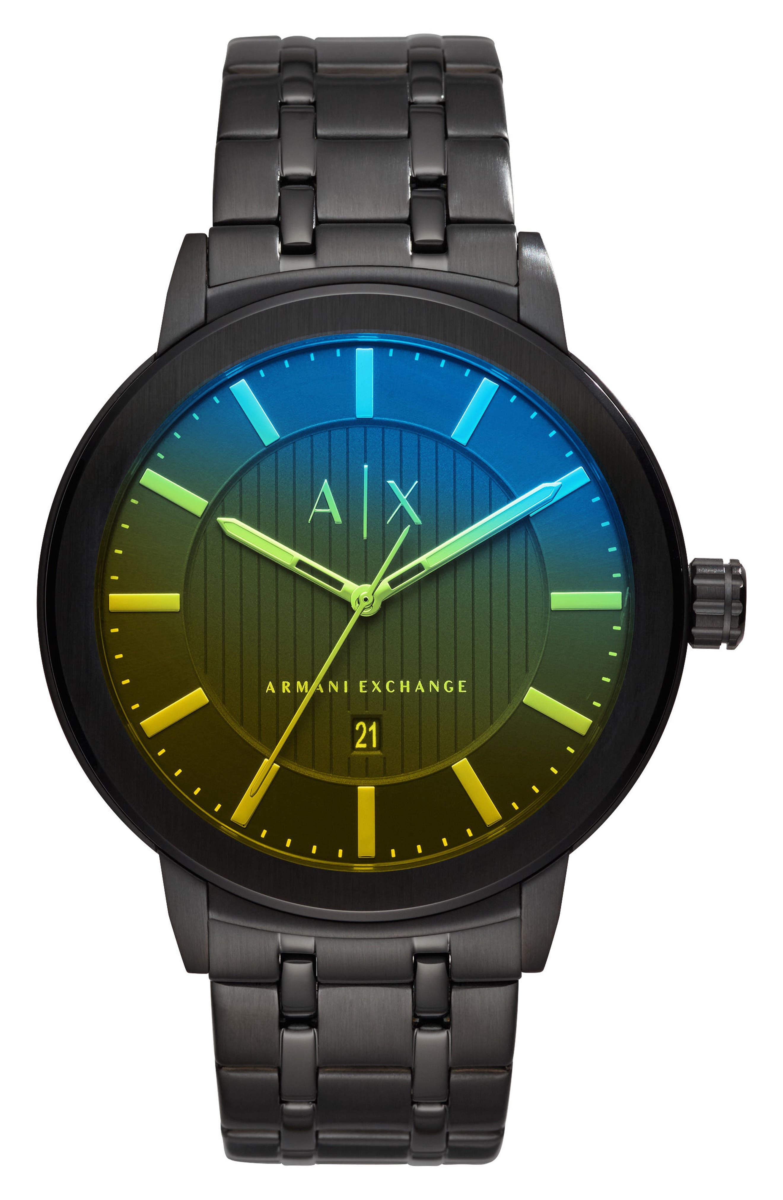 Bracelet Watch, 46mm,                         Main,                         color, Yellow Tint/ Black