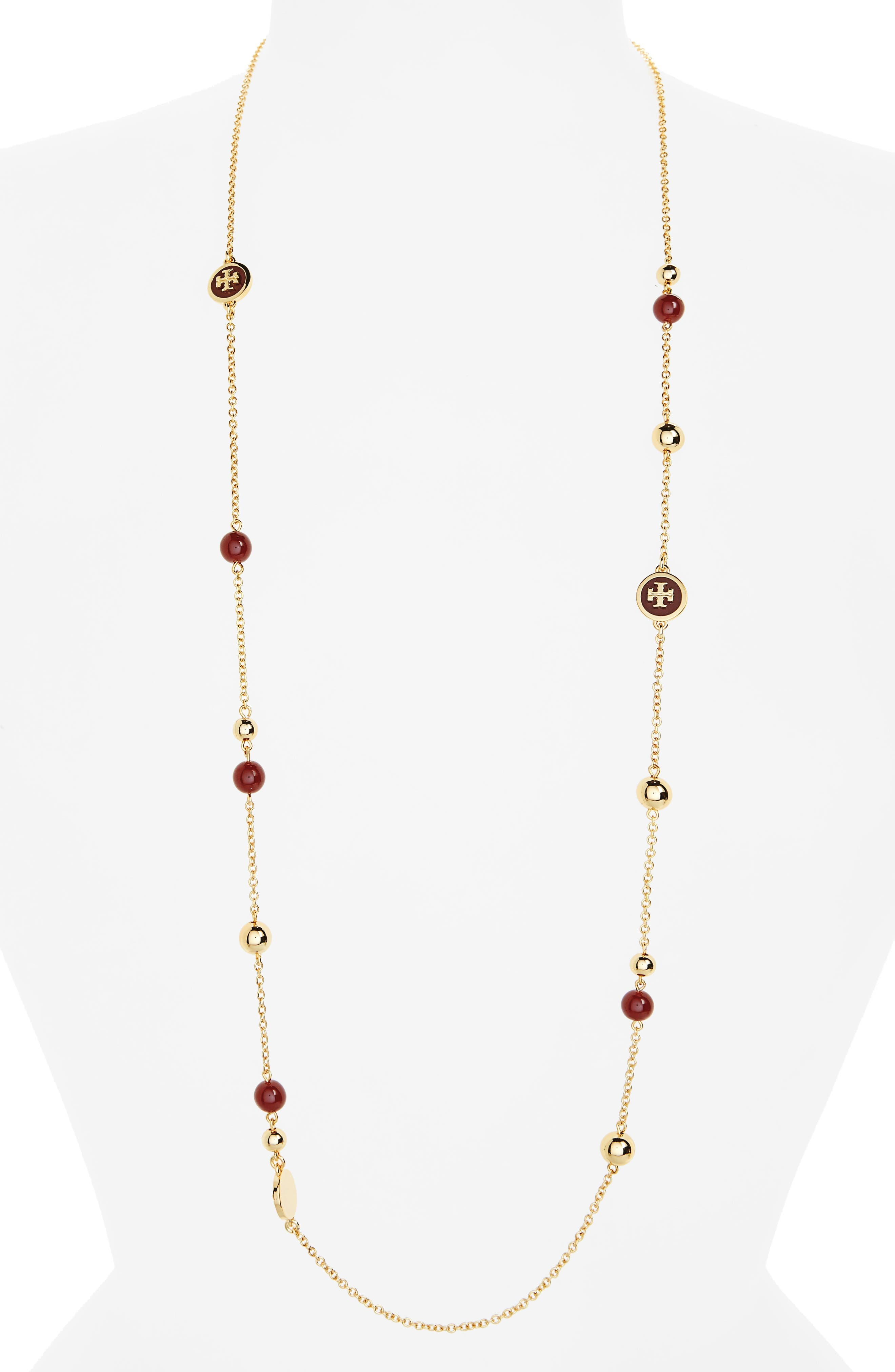 Tory Burch Rosary Station Necklace
