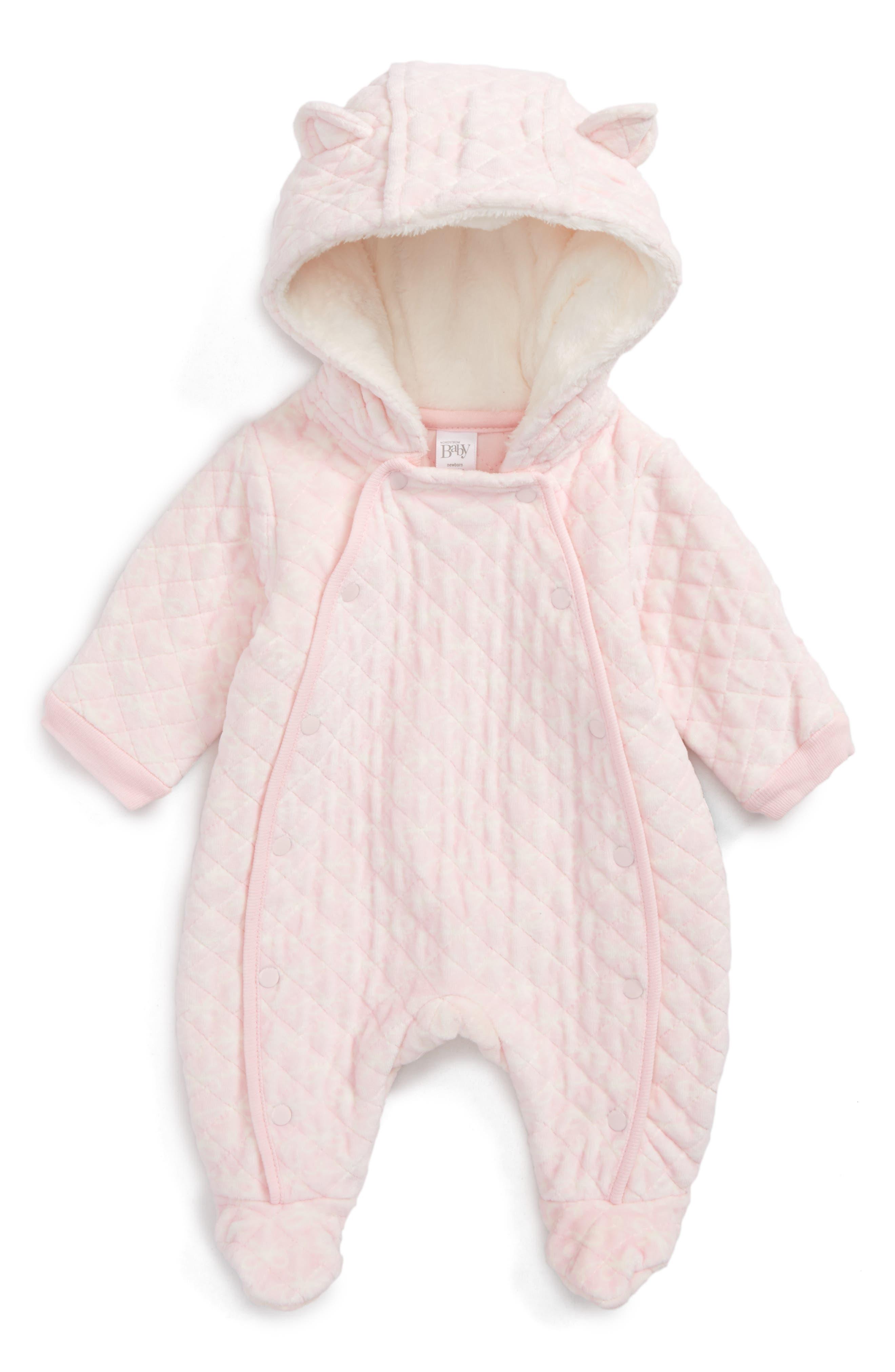 Print Bunting,                         Main,                         color, Pink Baby Bows
