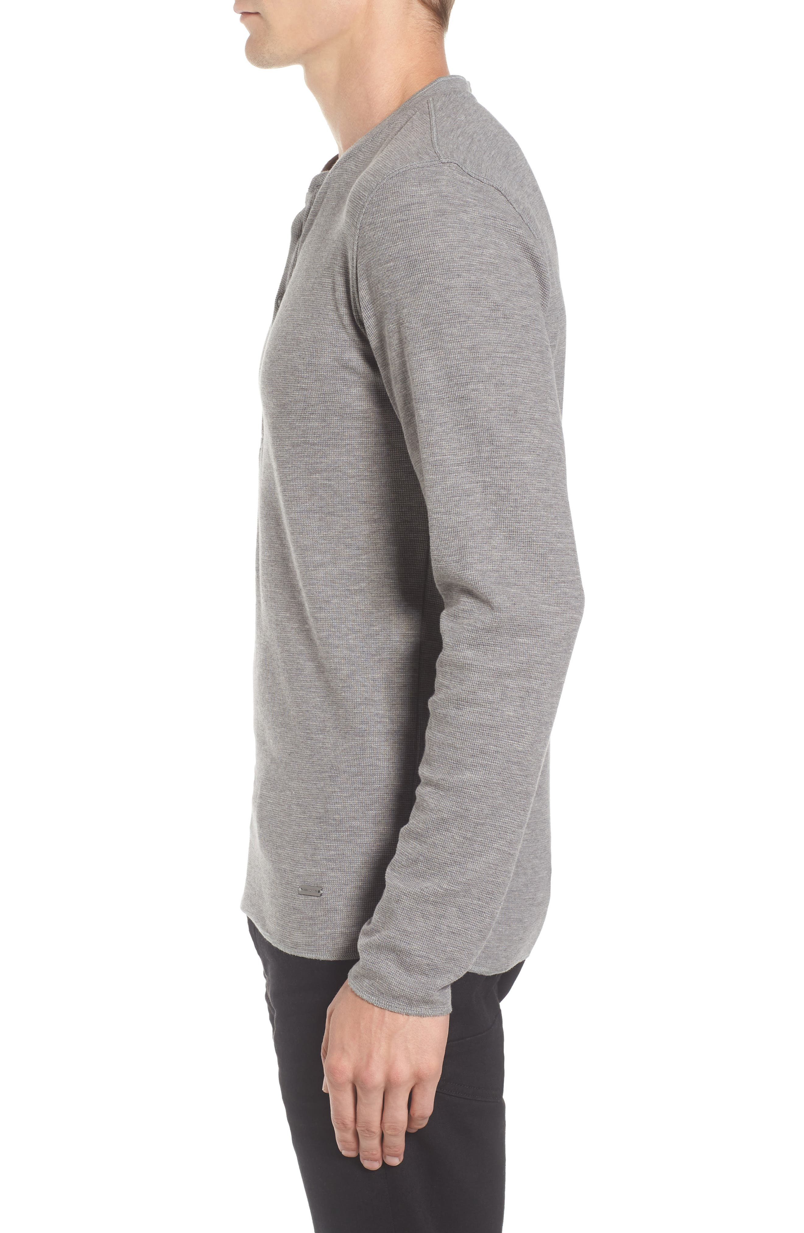 Topsider Thermal Henley,                             Alternate thumbnail 3, color,                             Light Pastel/ Grey