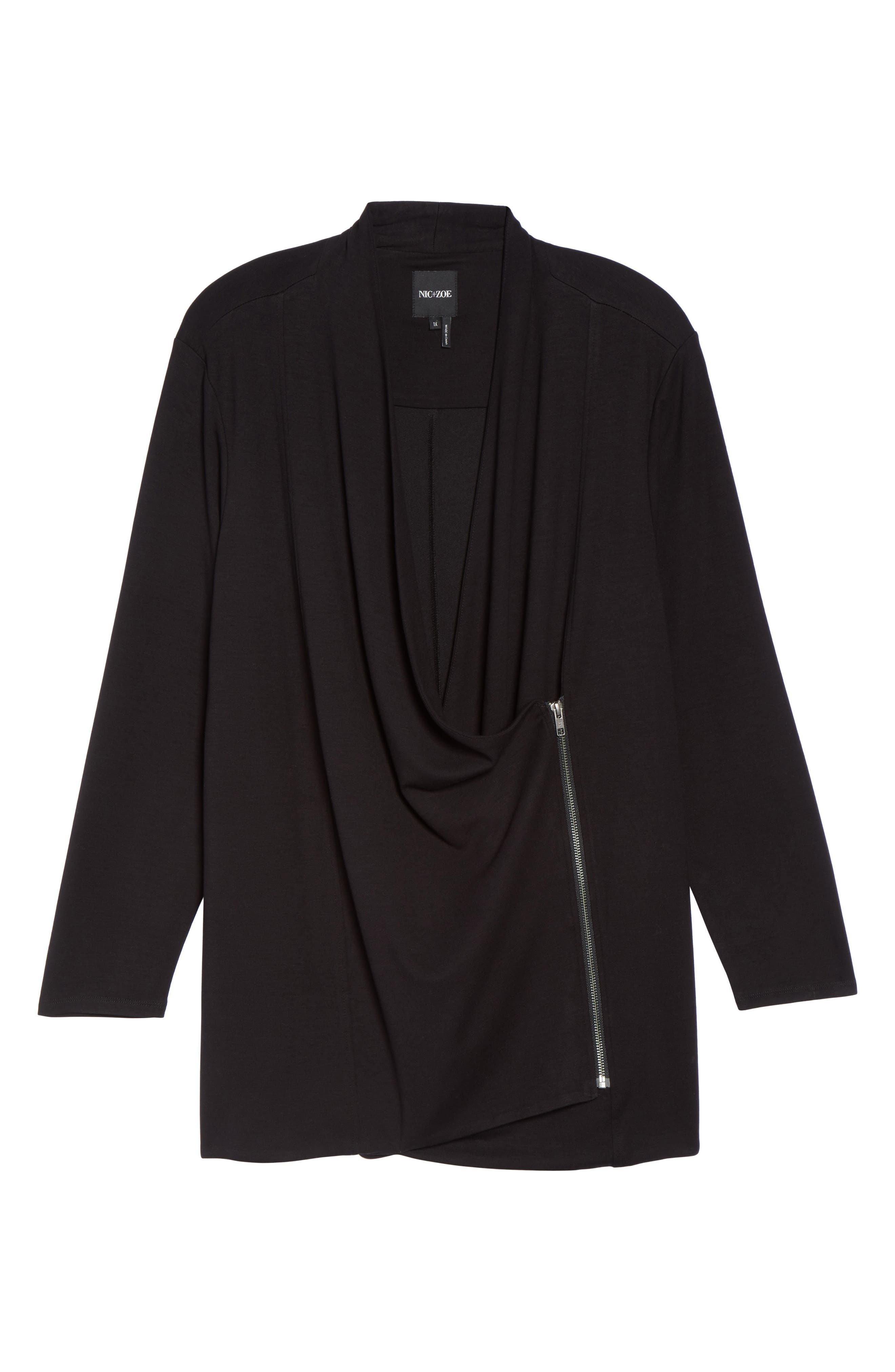 Alternate Image 6  - NIC+ZOE Studio Asymmetrical Zip Jacket (Plus Size)