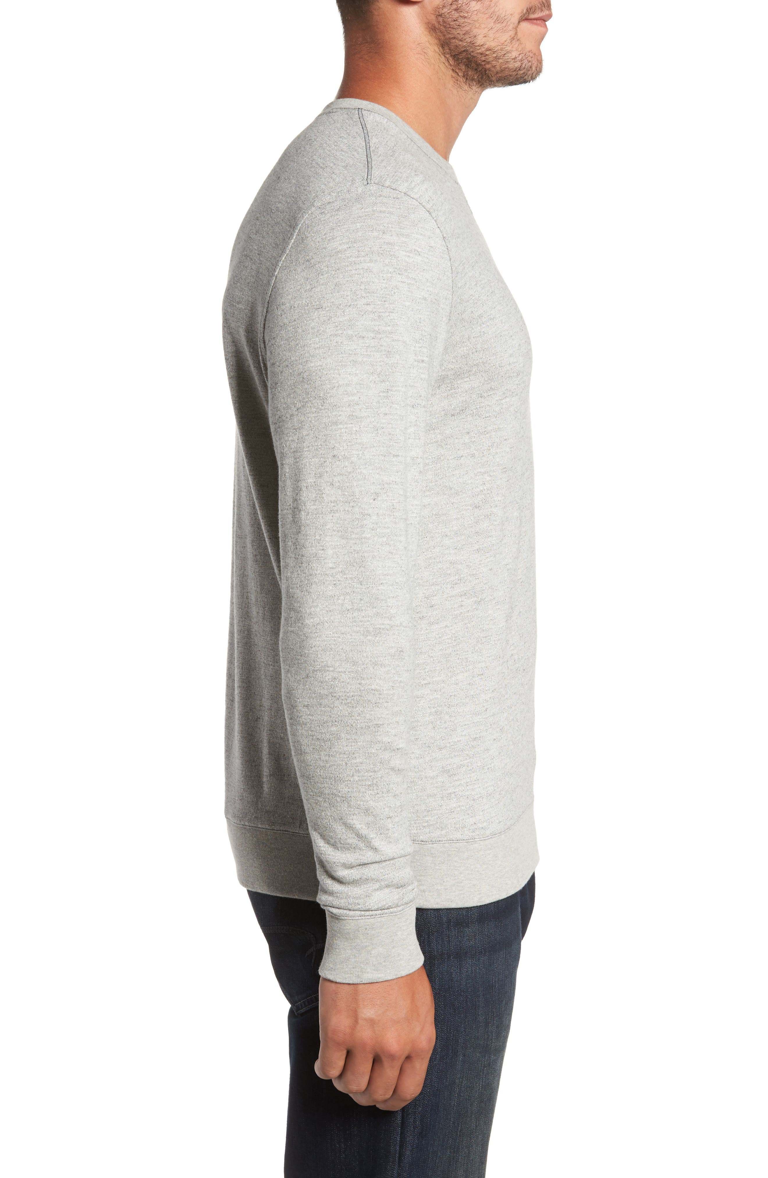 Vienna French Terry T-Shirt,                             Alternate thumbnail 3, color,                             Light Grey