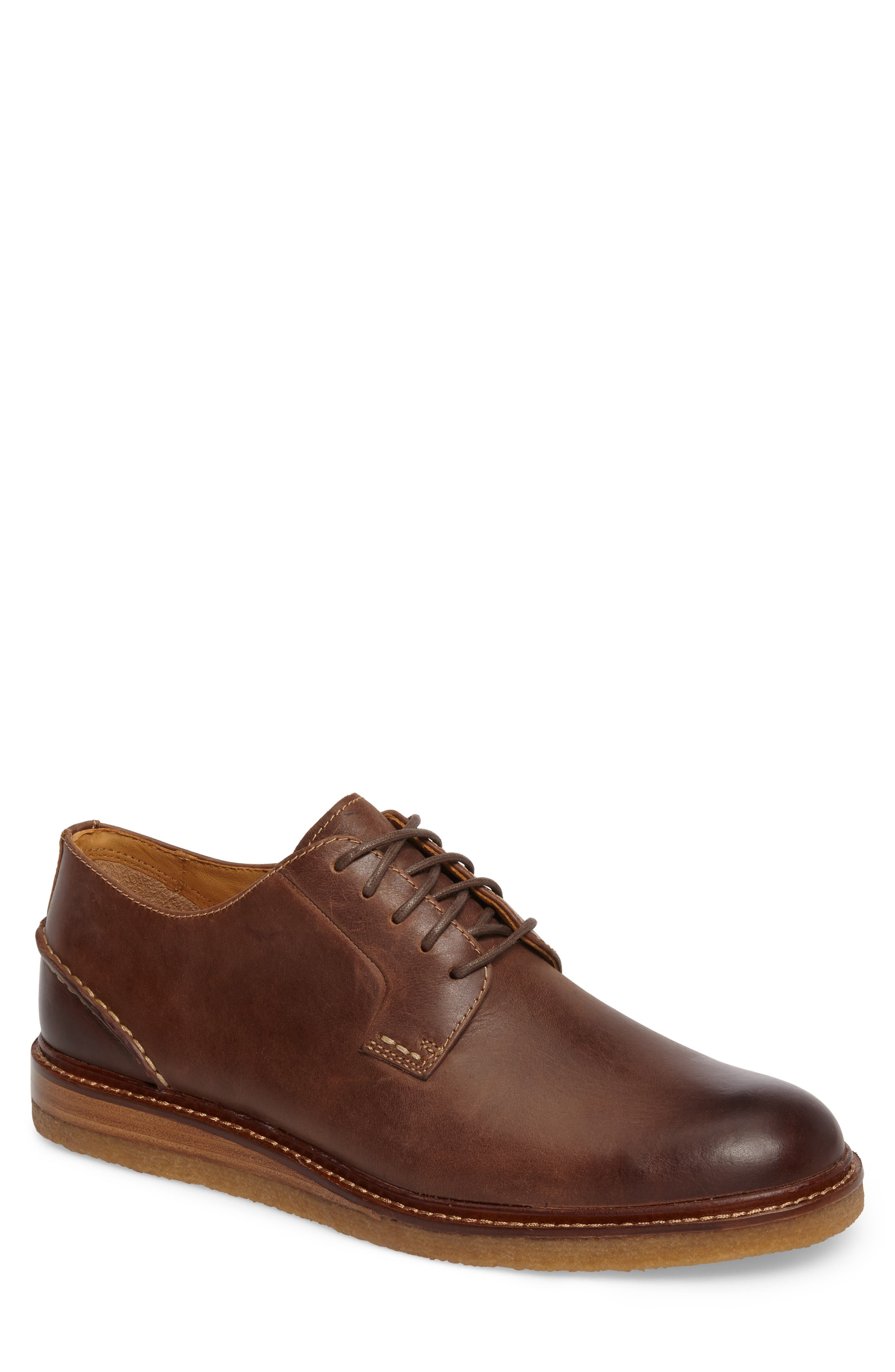 Gold Cup Plain Toe Derby,                         Main,                         color, Brown Leather