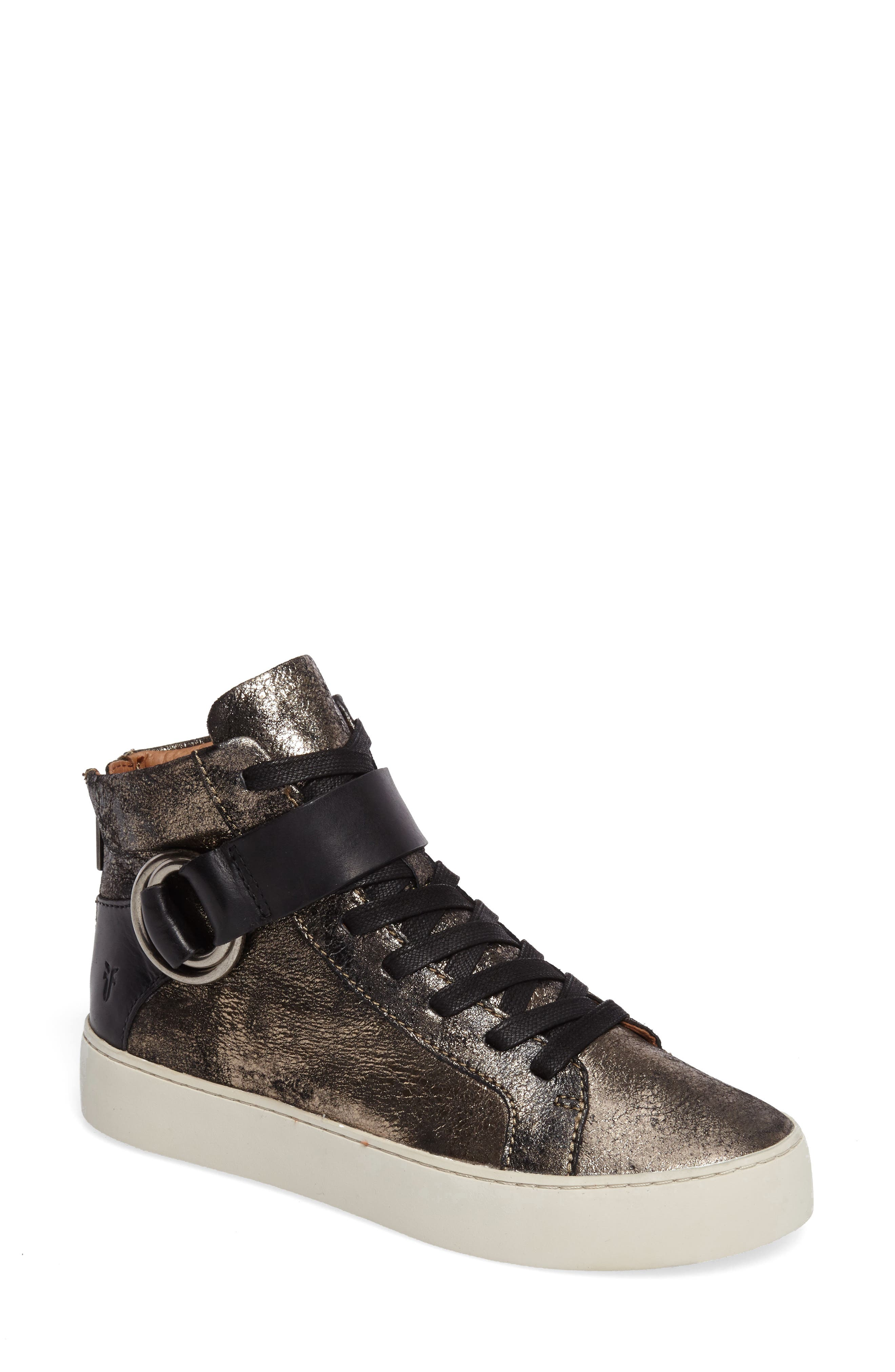 Lena Harness High Top Sneaker,                         Main,                         color, Gunmetal