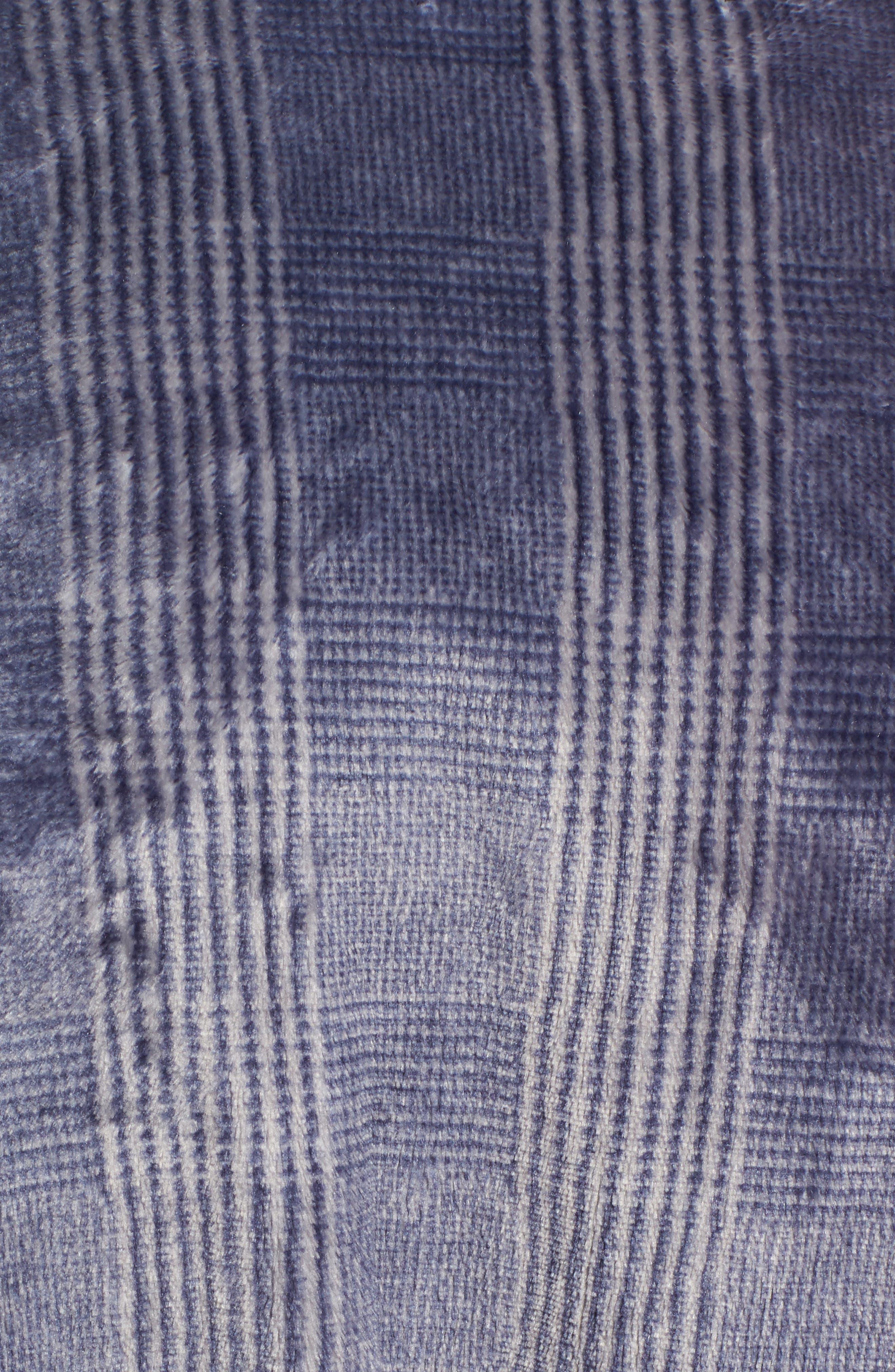 Alternate Image 5  - Nordstrom Men's Shop Glen Check Fleece Robe