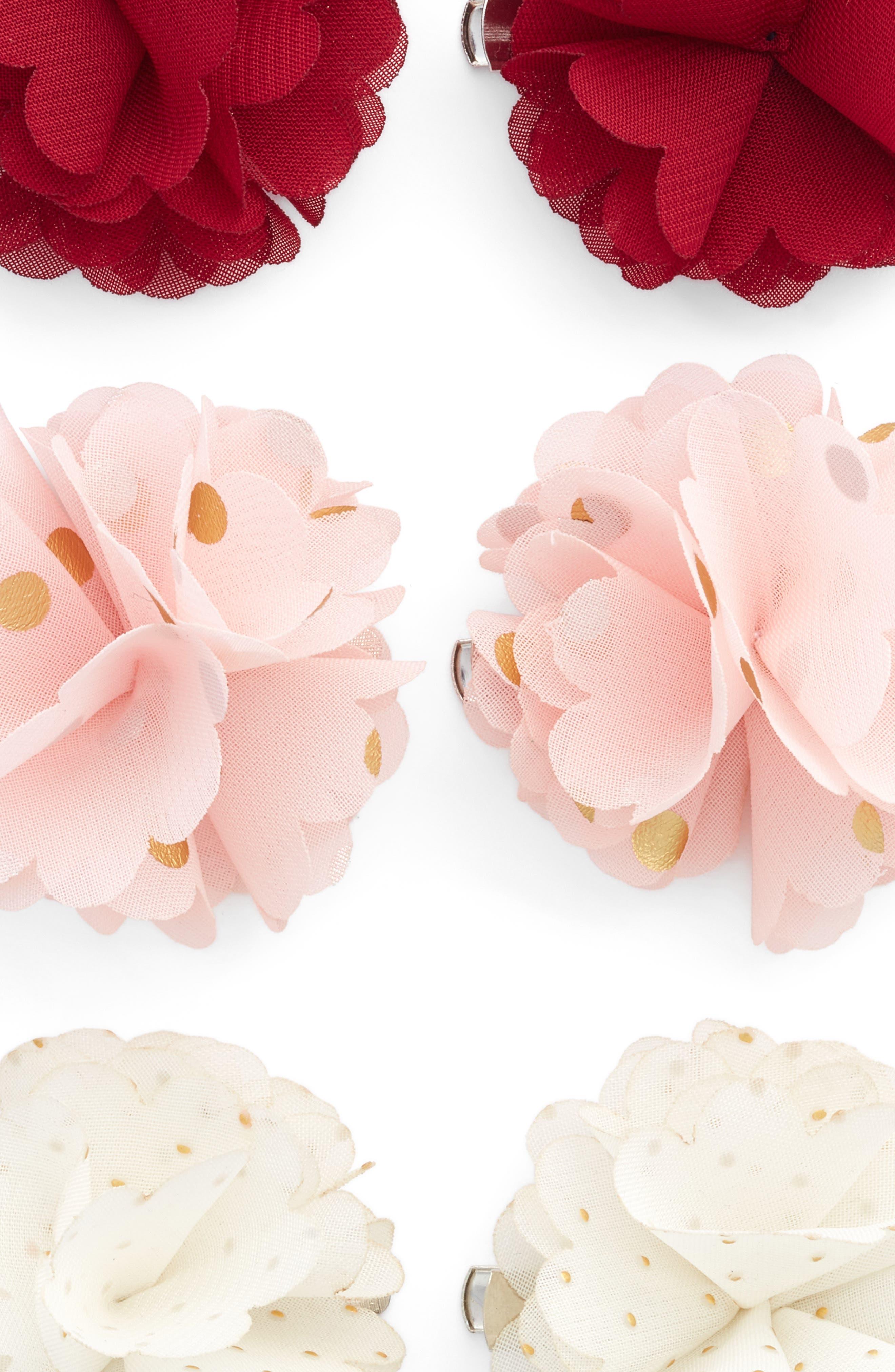 Alternate Image 3  - Capelli New York 6-Pack Flower Hair Clips (Big Girls)