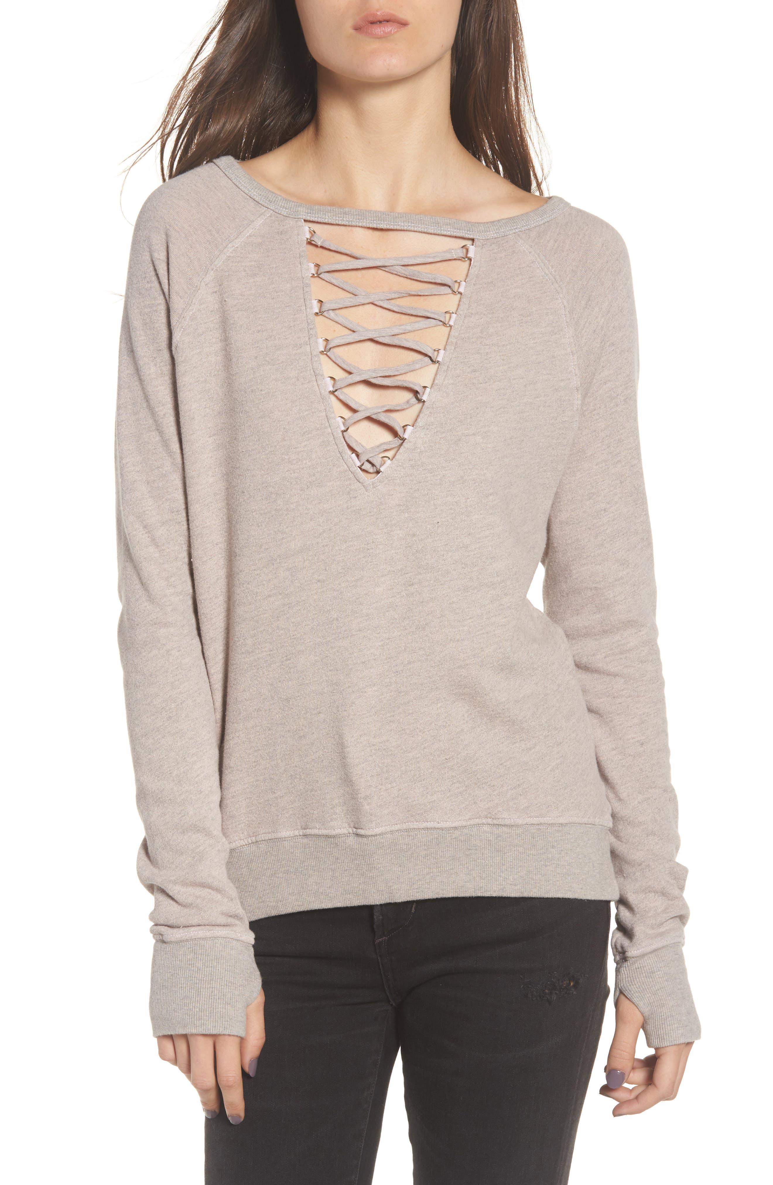 Pam & Gela Cross Neck Sweatshirt