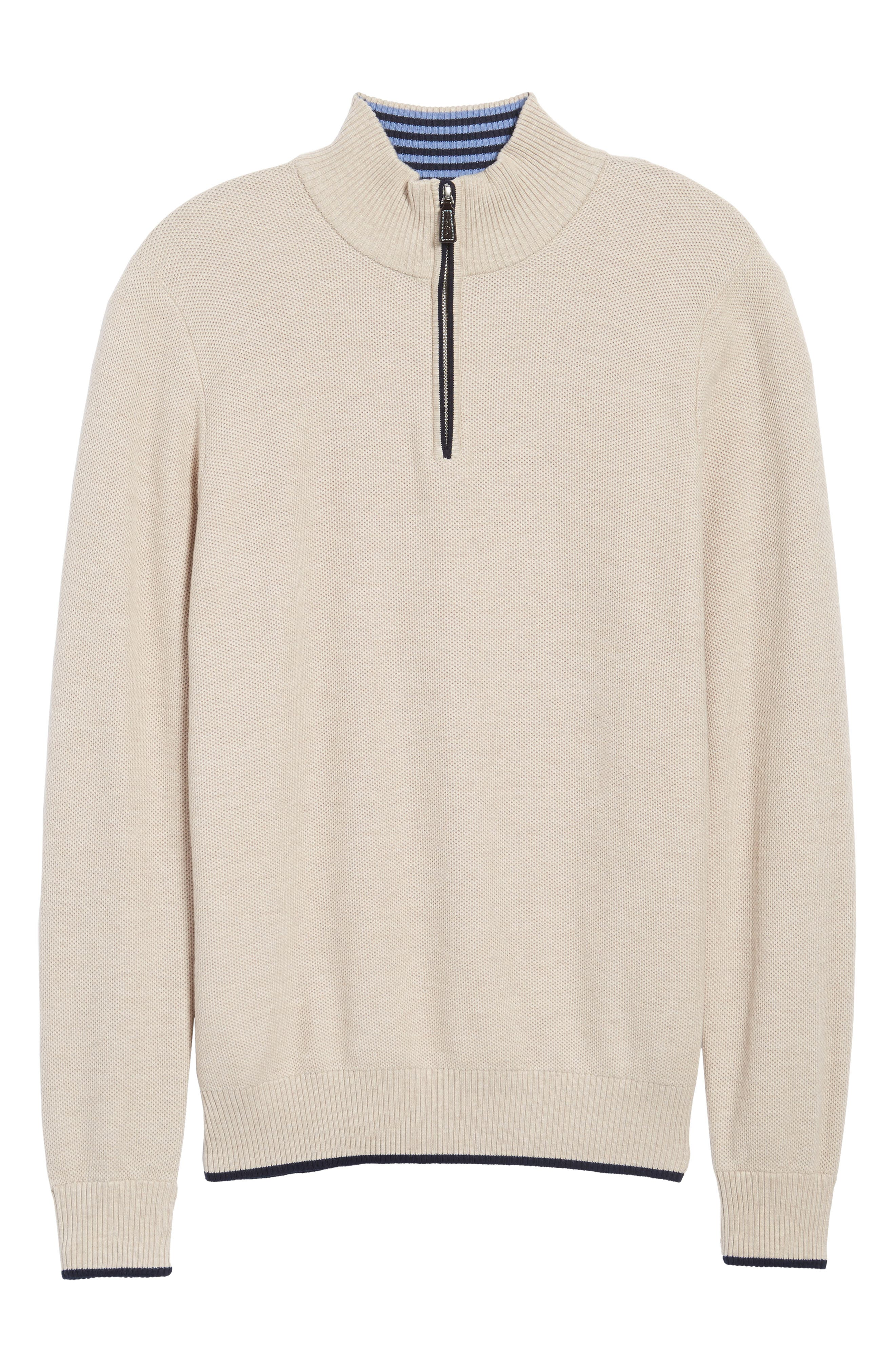 Alternate Image 6  - TailorByrd Sikes Tipped Quarter Zip Sweater