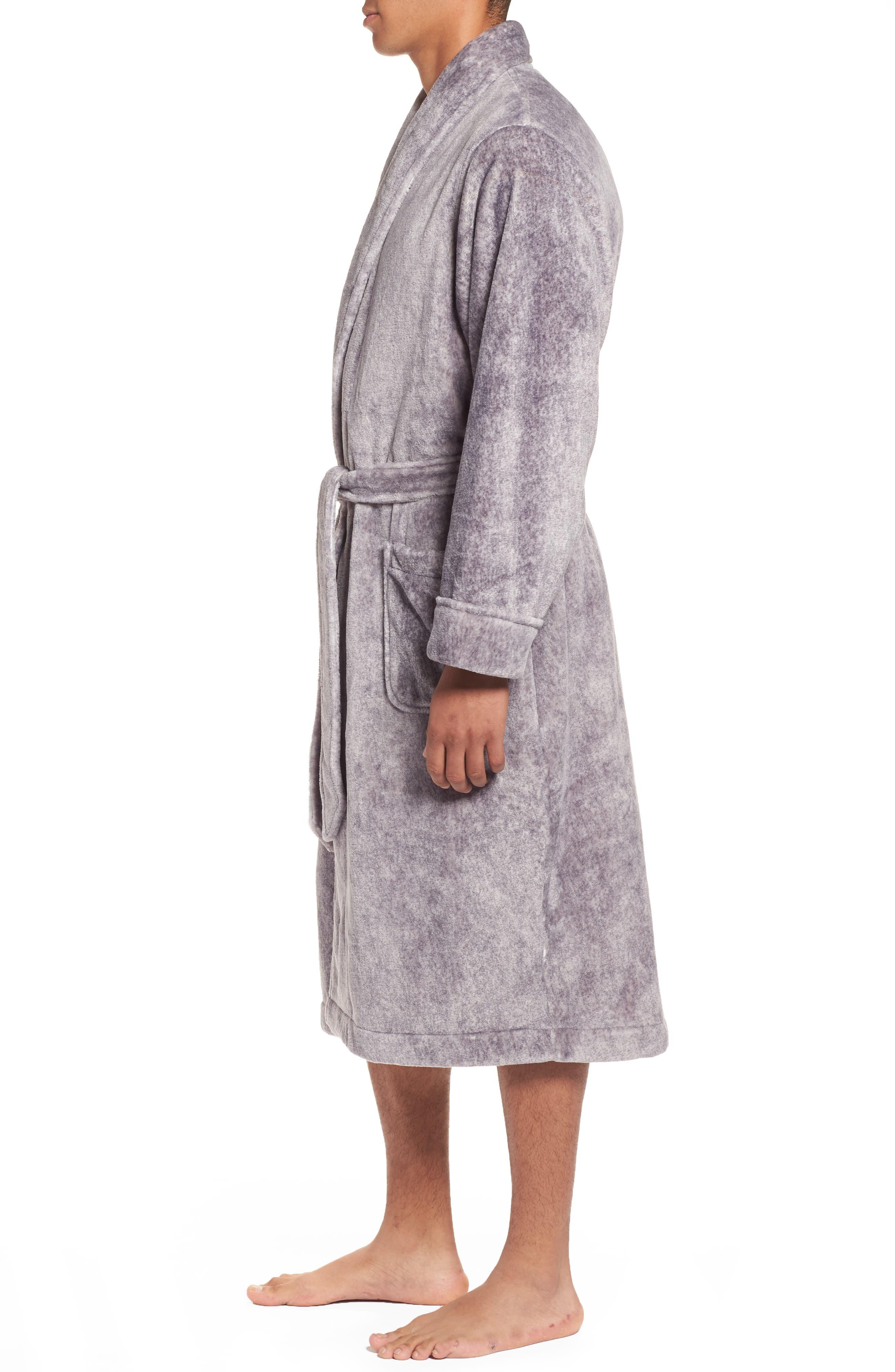 Alternate Image 3  - Nordstrom Men's Shop Heathered Fleece Robe