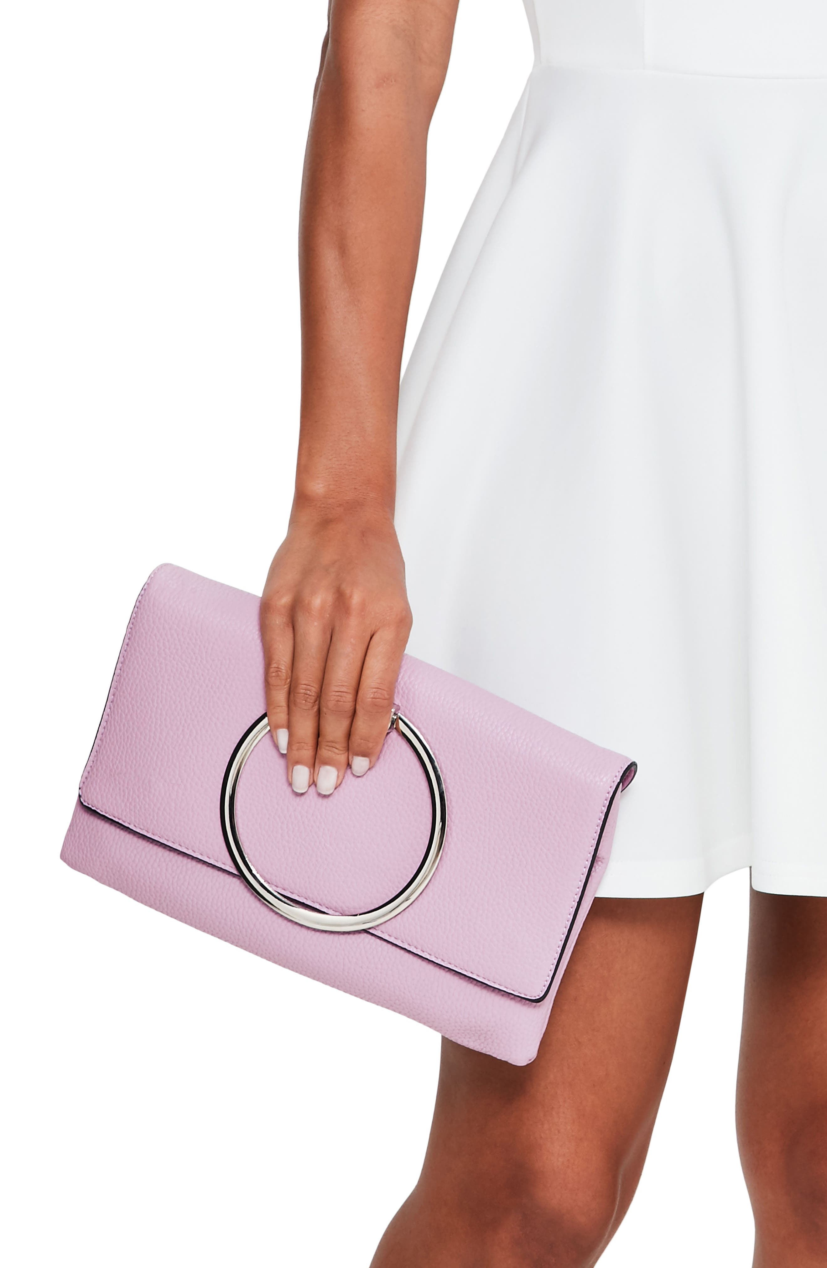 Alternate Image 1 Selected - Missguided Circle Handle Clutch