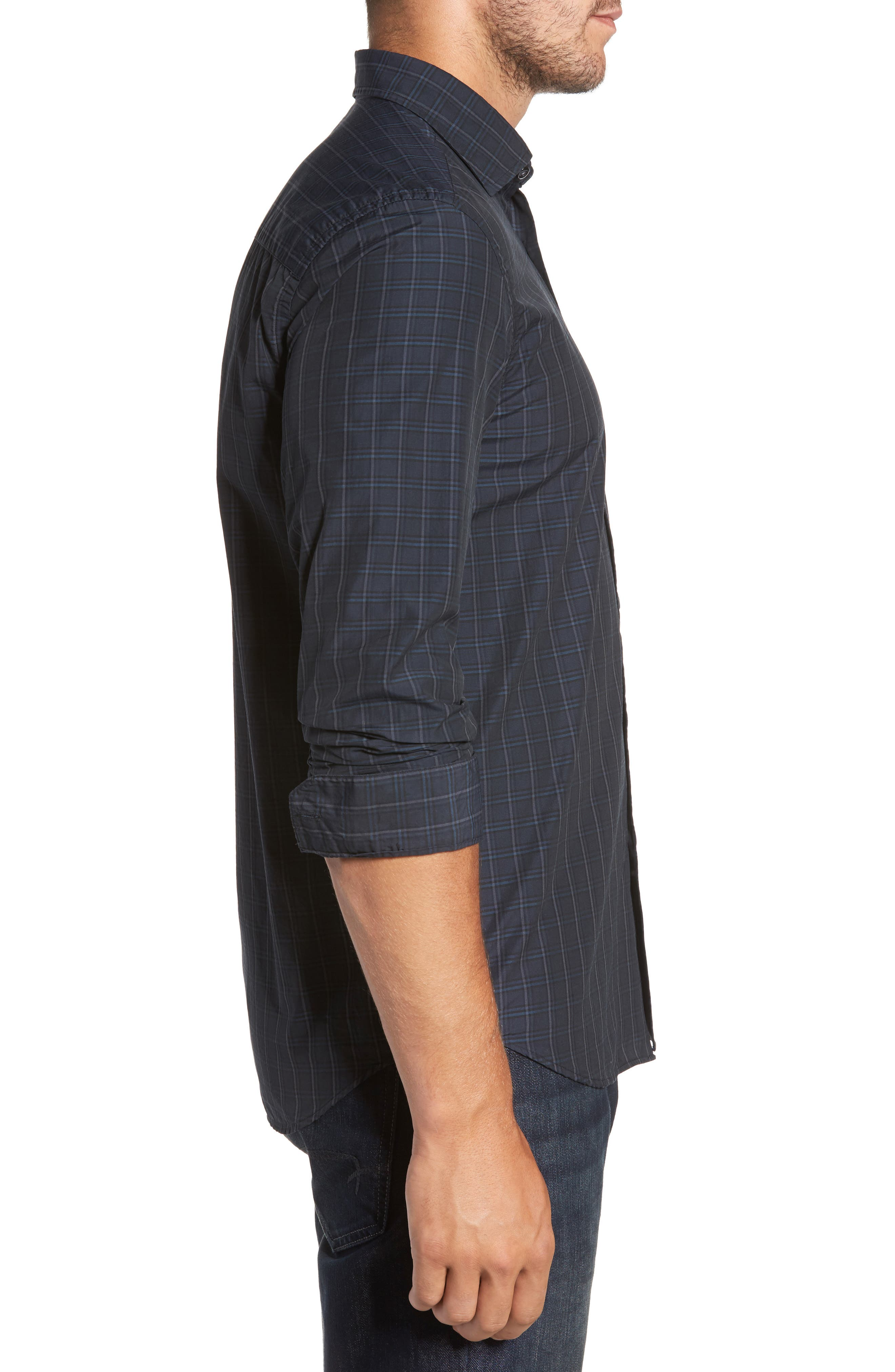 Alternate Image 3  - Robert Barakett Charleston Regular Fit Plaid Sport Shirt