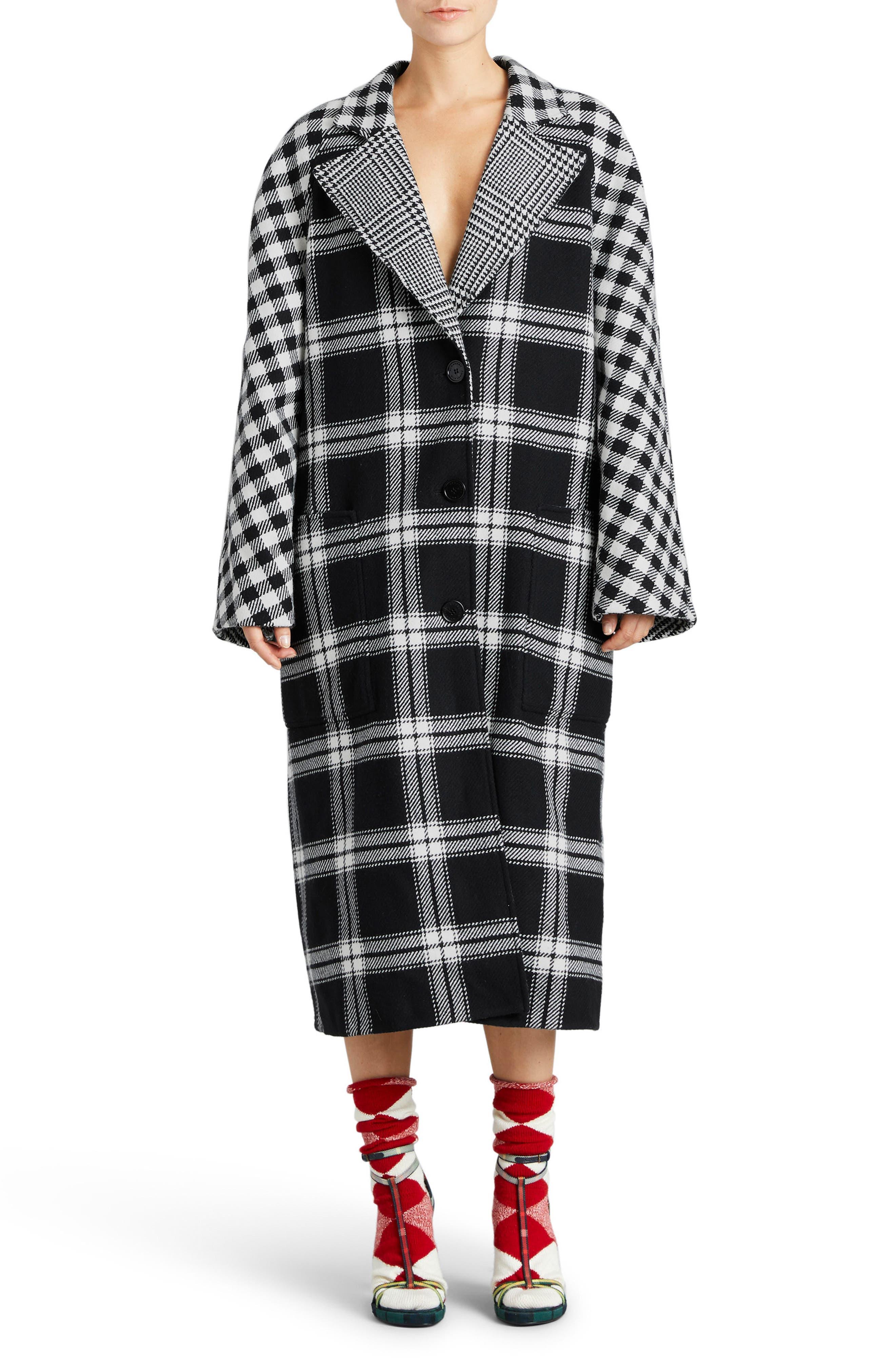 Burberry Tartan Wool & Cashmere Reversible Overcoat