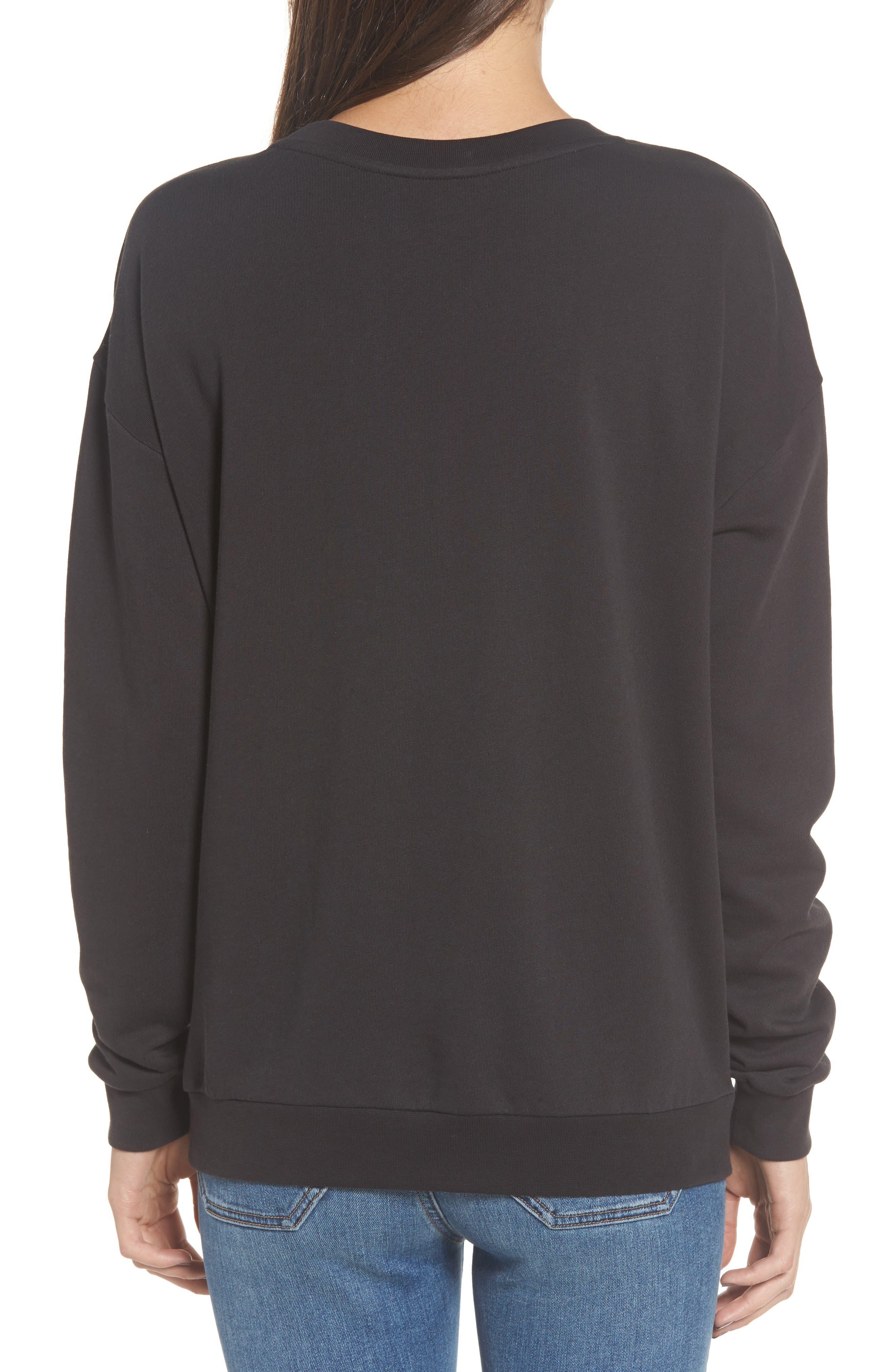 Bisous Sweatshirt,                             Alternate thumbnail 2, color,                             Black