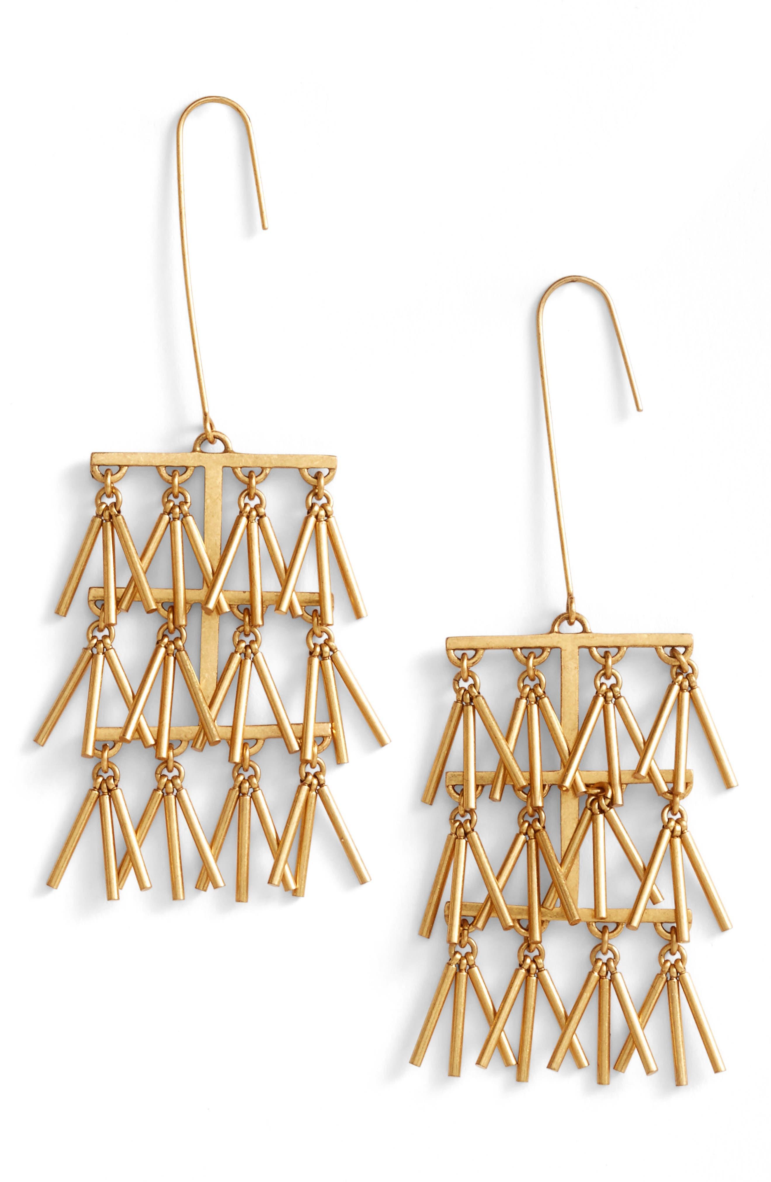 Madewell Long Chandelier Earrings