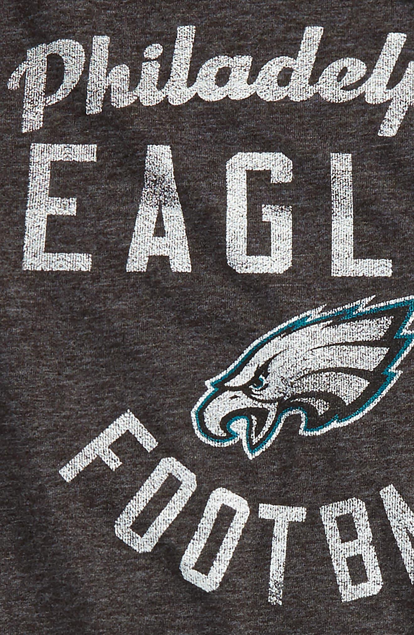 Alternate Image 2  - Outerstuff NFL Philadelphia Eagles Distressed Logo T-Shirt (Big Boys)